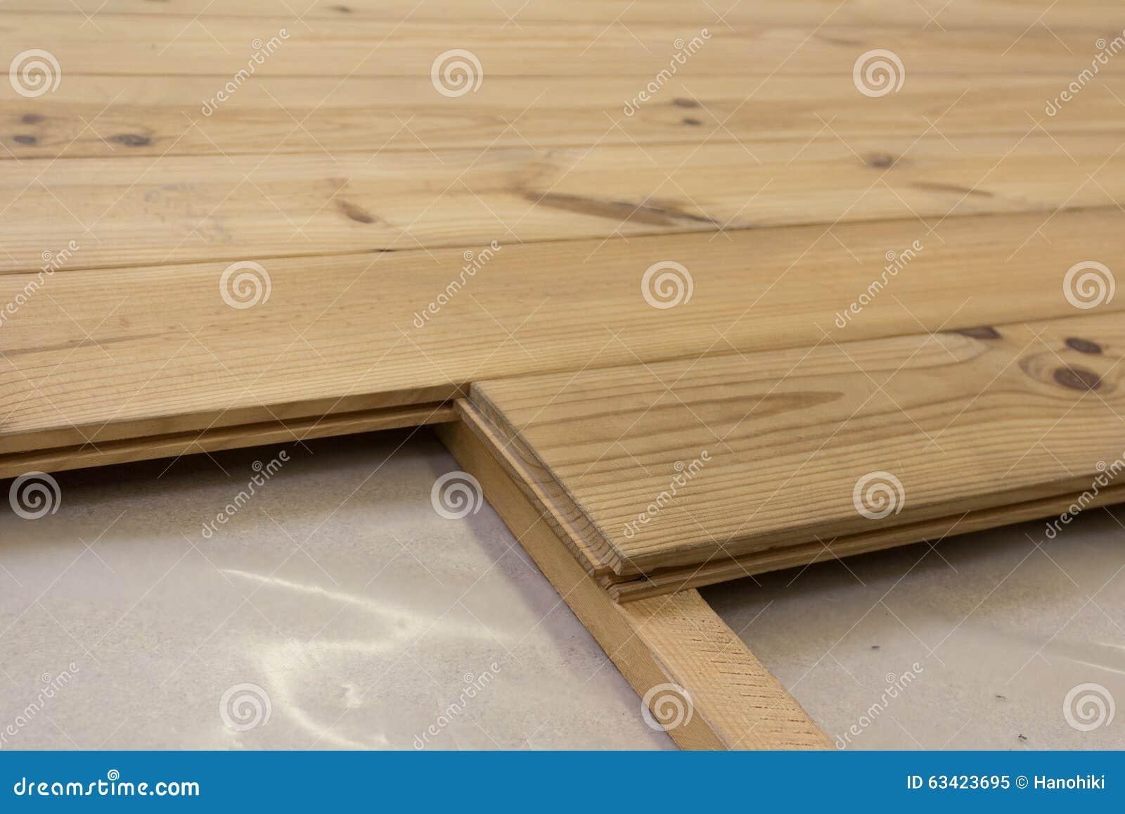 Houten vloer eiken planken raadsvloer stock afbeelding