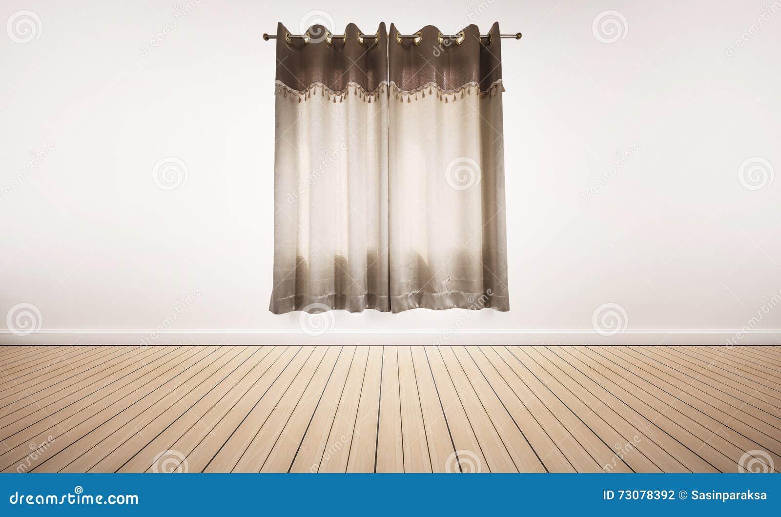 Witte gordijnen en witte vloer royalty vrije stock afbeelding ...