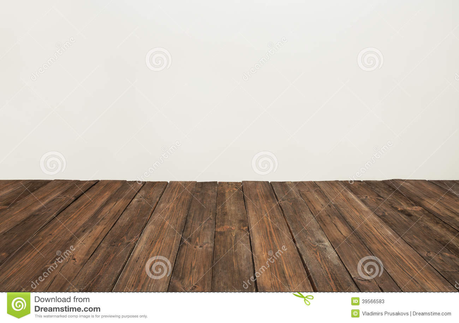 Houten vloer, oude houten plank, het bruine binnenland van de raadsruimte