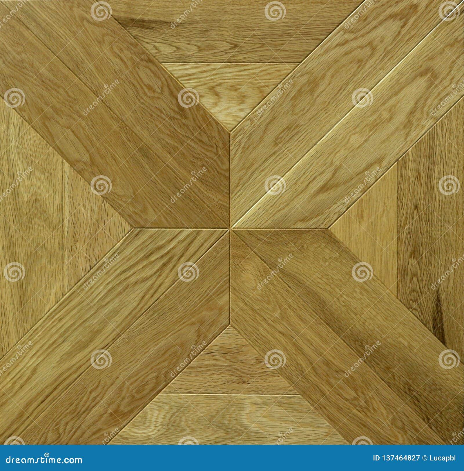 Houten vloertegel Geometrische vorm voor parketpatroon