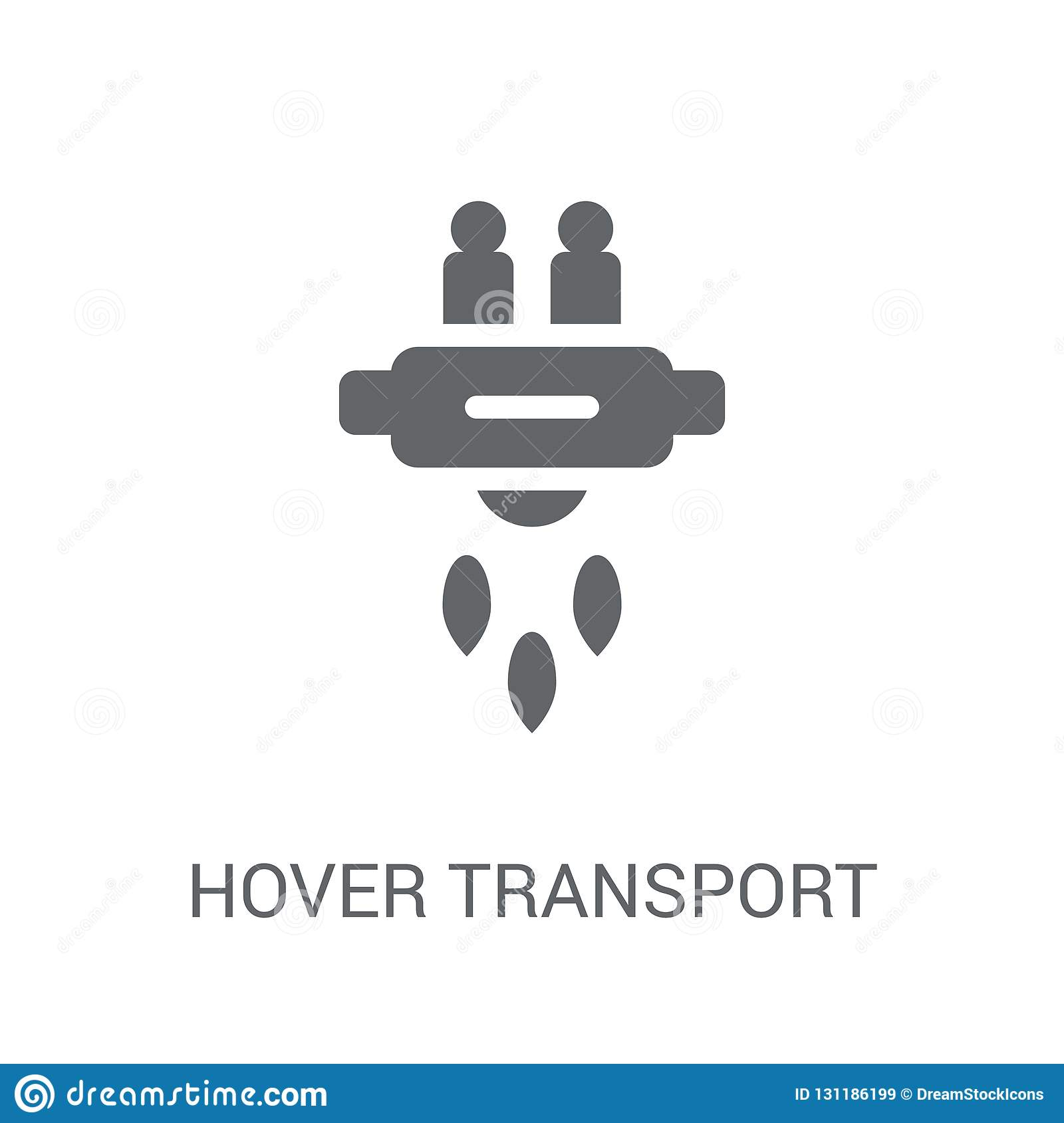 Hover transport icon. Trendy Hover transport logo concept on white background from Artificial Intelligence collection
