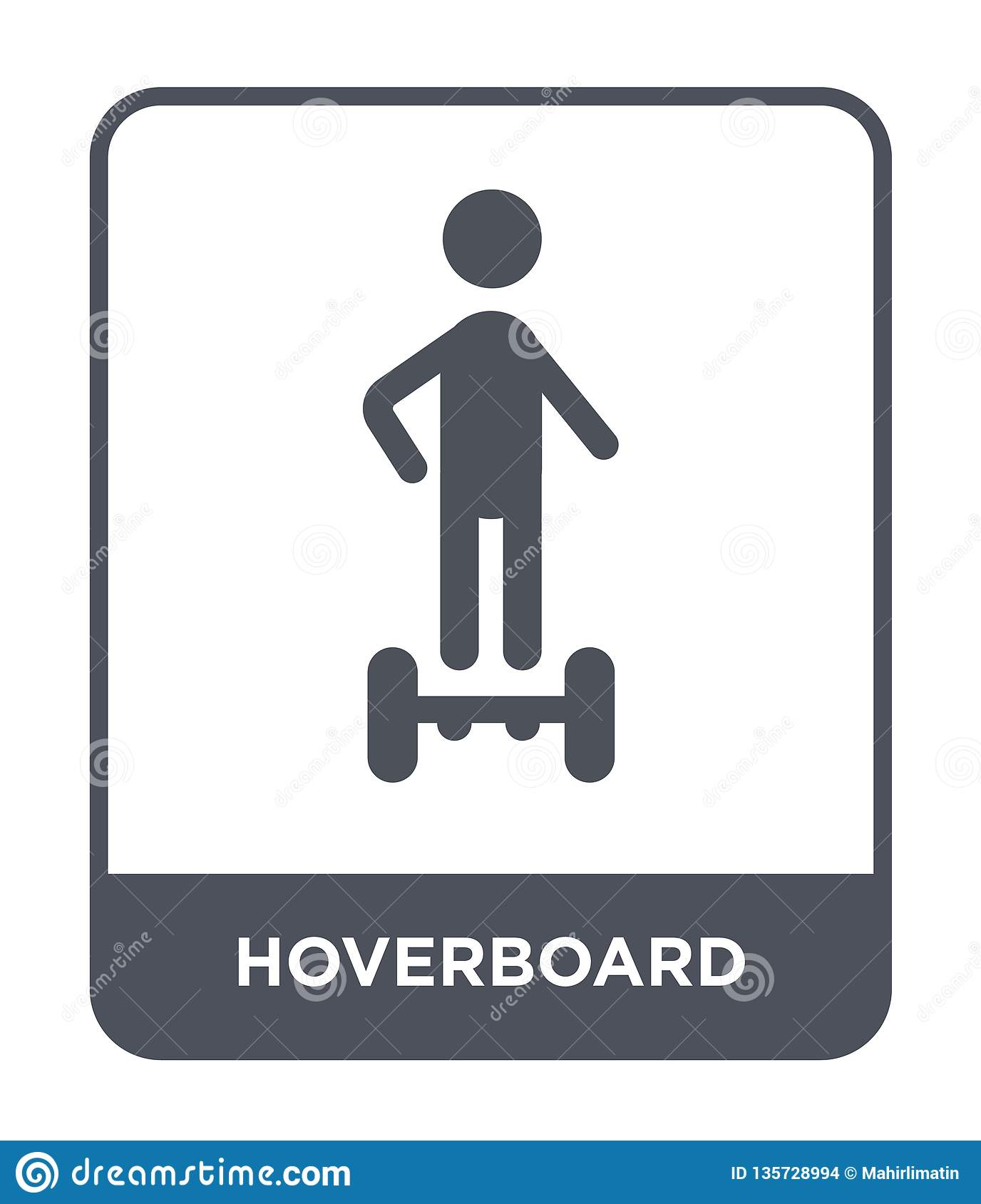hoverboard icon in trendy design style. hoverboard icon isolated on white background. hoverboard vector icon simple and modern