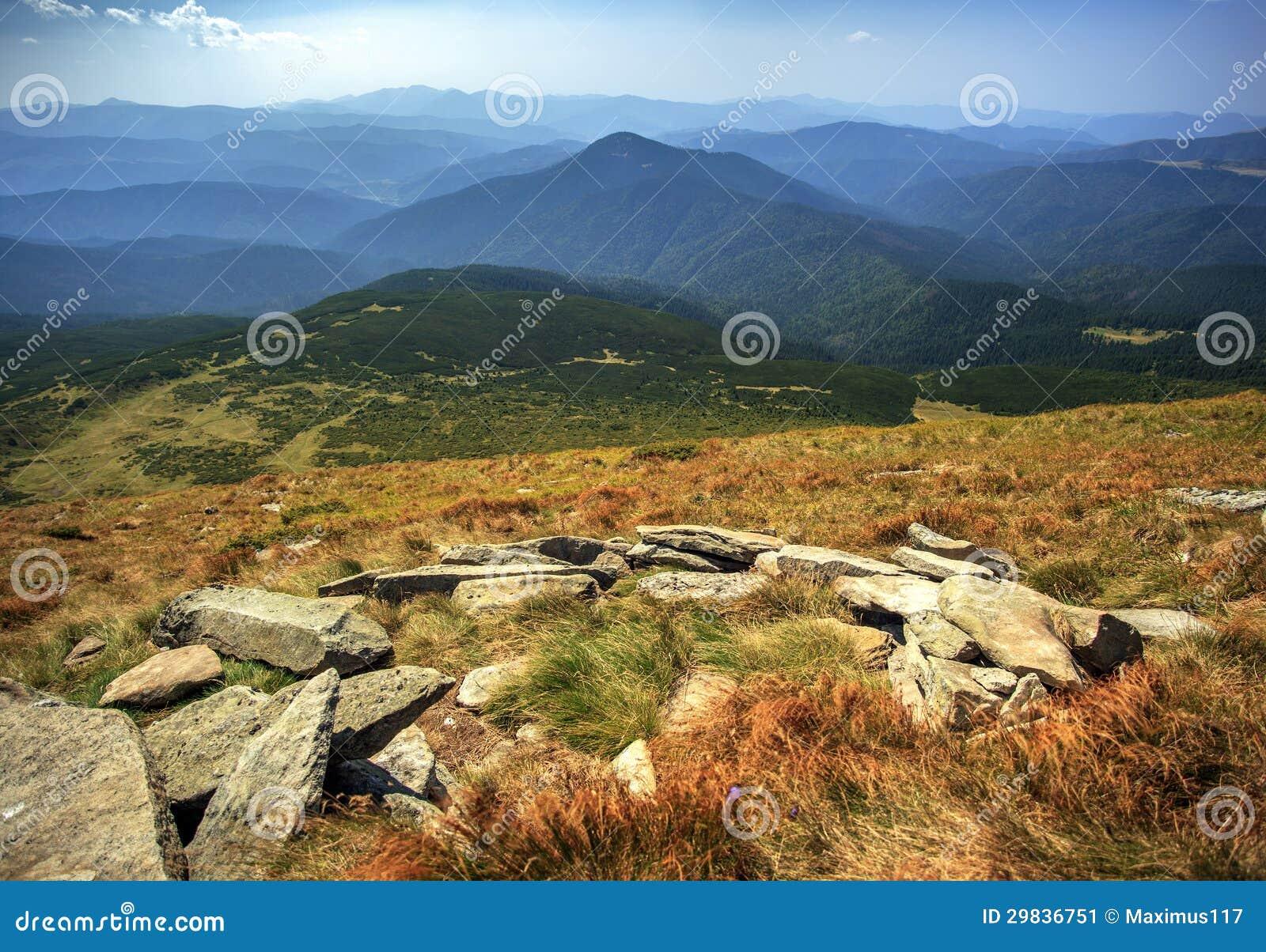 Hoverla, a montanha a mais alta em Ucrânia