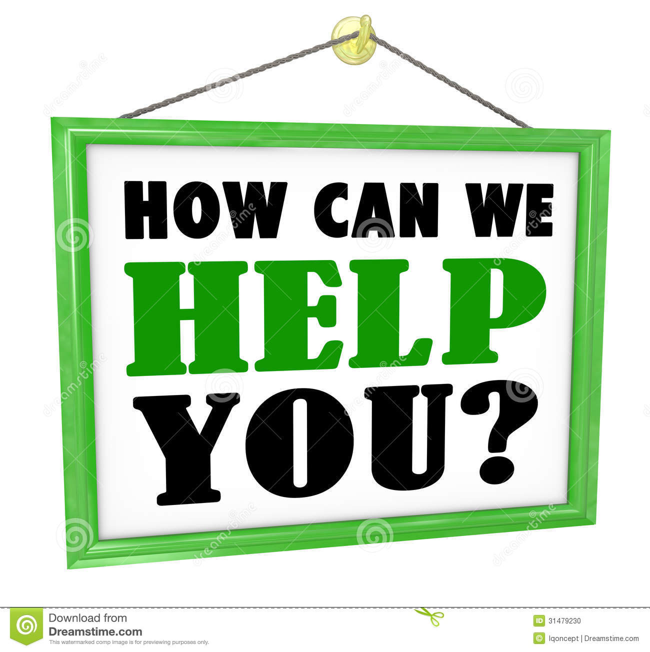 How Can We Help You Hanging Store Sign Helpful Service ...