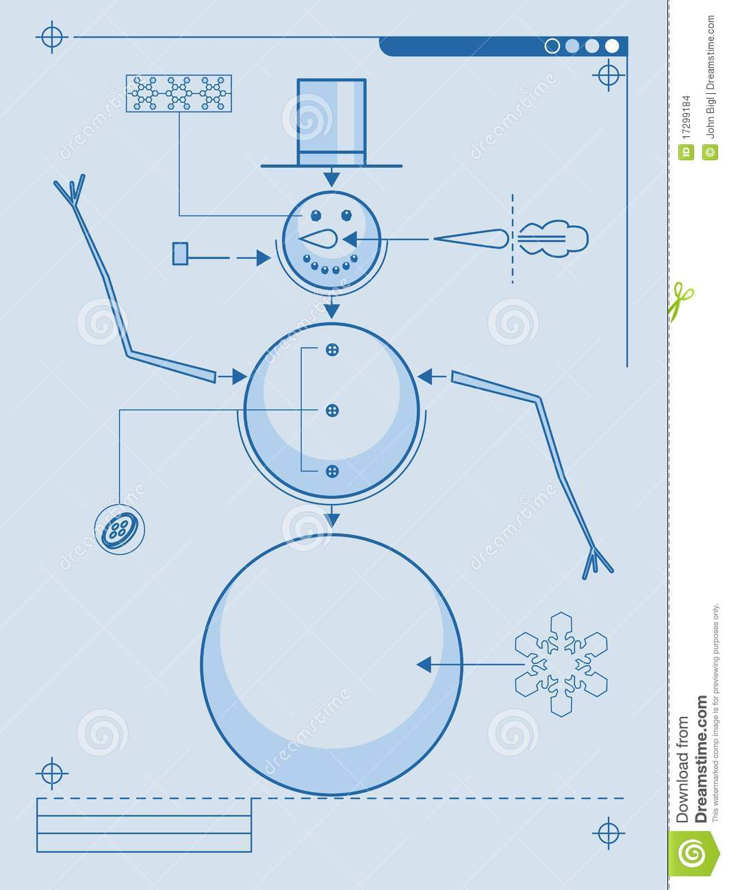 How to build a snowman stock images image 17299184