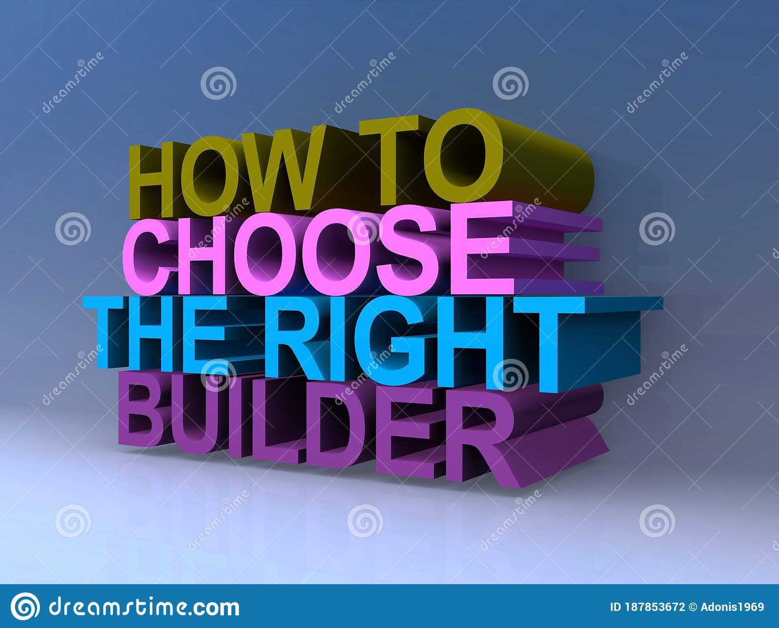 How To Choose The Right Builder Stock Illustration Illustration Of Hiring Thinker 187853672