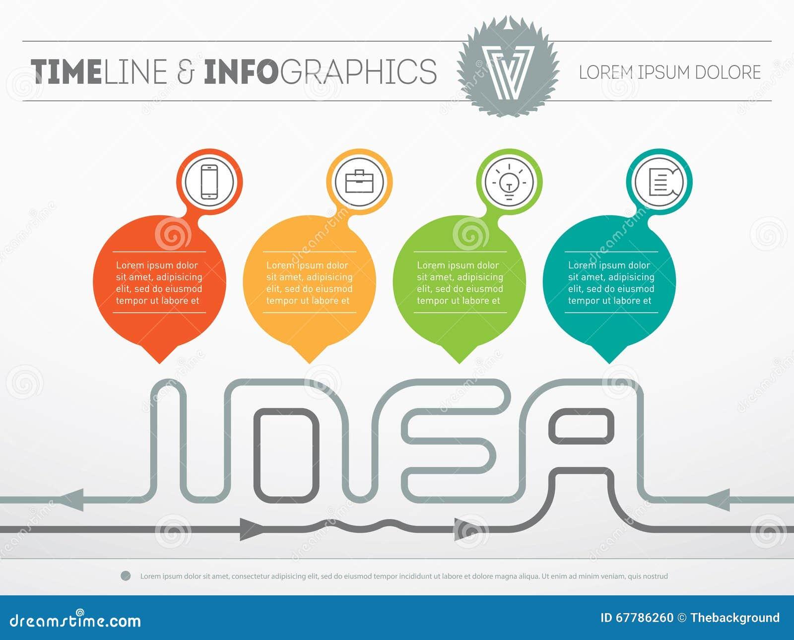 How To Create A Creative Idea Vector Web Template Of Infograph