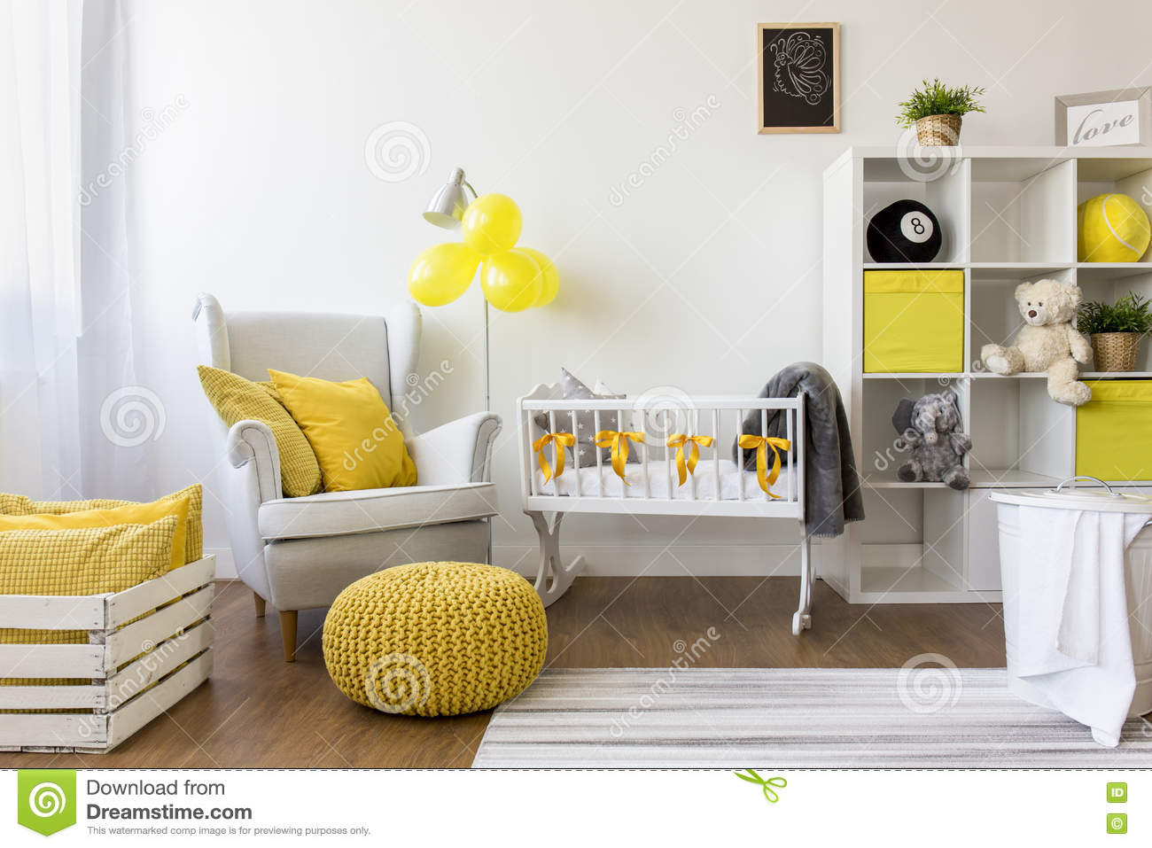 How to decorate a nursery. How To Decorate A Nursery Stock Photo   Image  72766928