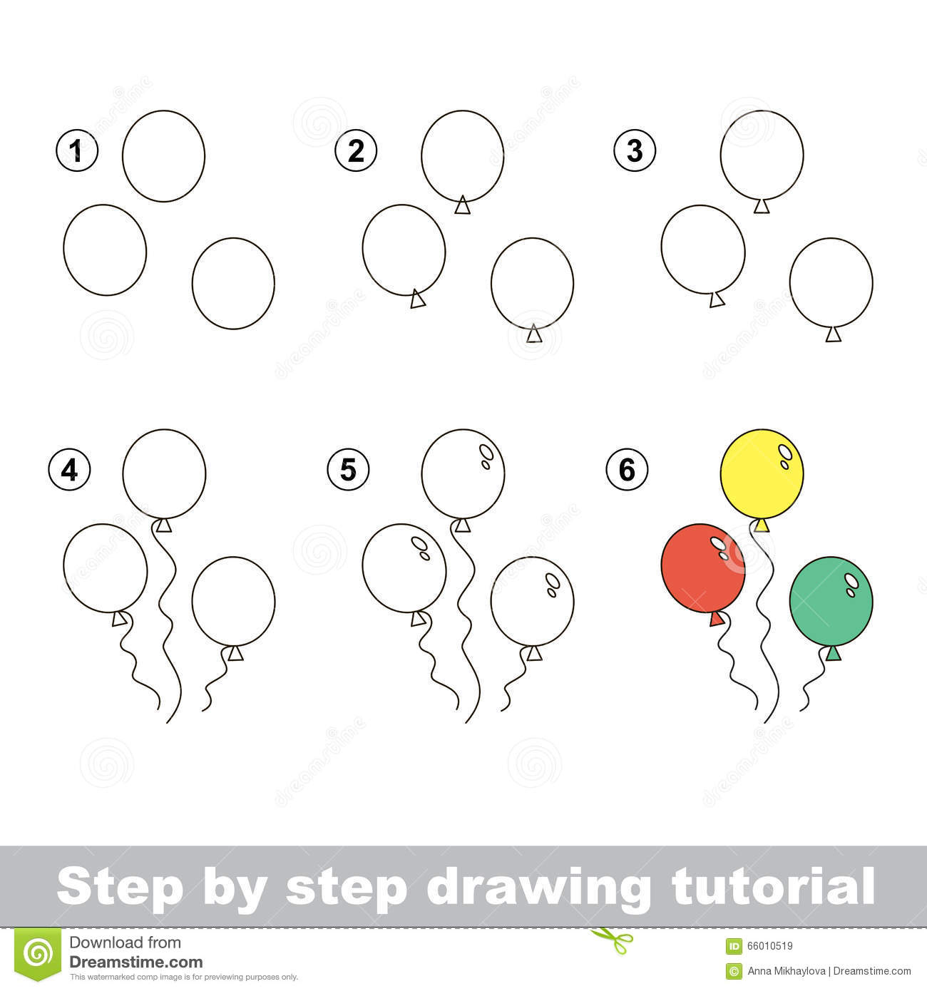 Uncategorized Draw A Balloon how to draw a balloons stock vector image of visual 66010519 balloons
