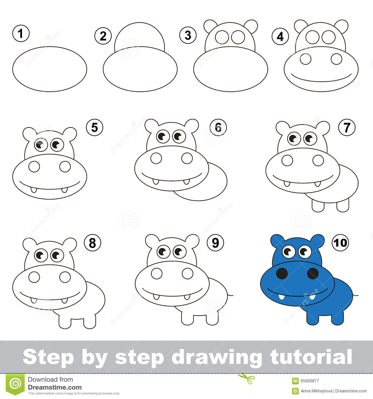 Uncategorized How To Draw A Cute Hippo how to draw a cute hippo stock vector image 65900877 royalty free download hippo