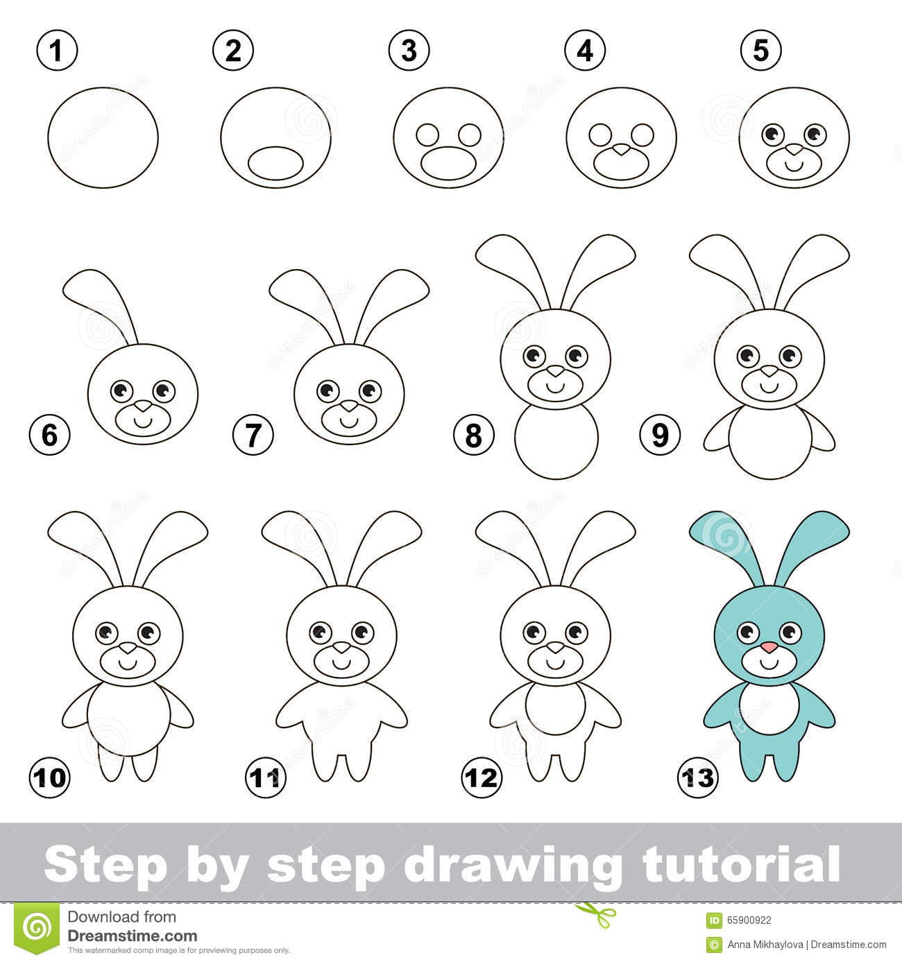 How To Draw A Funny Bunny