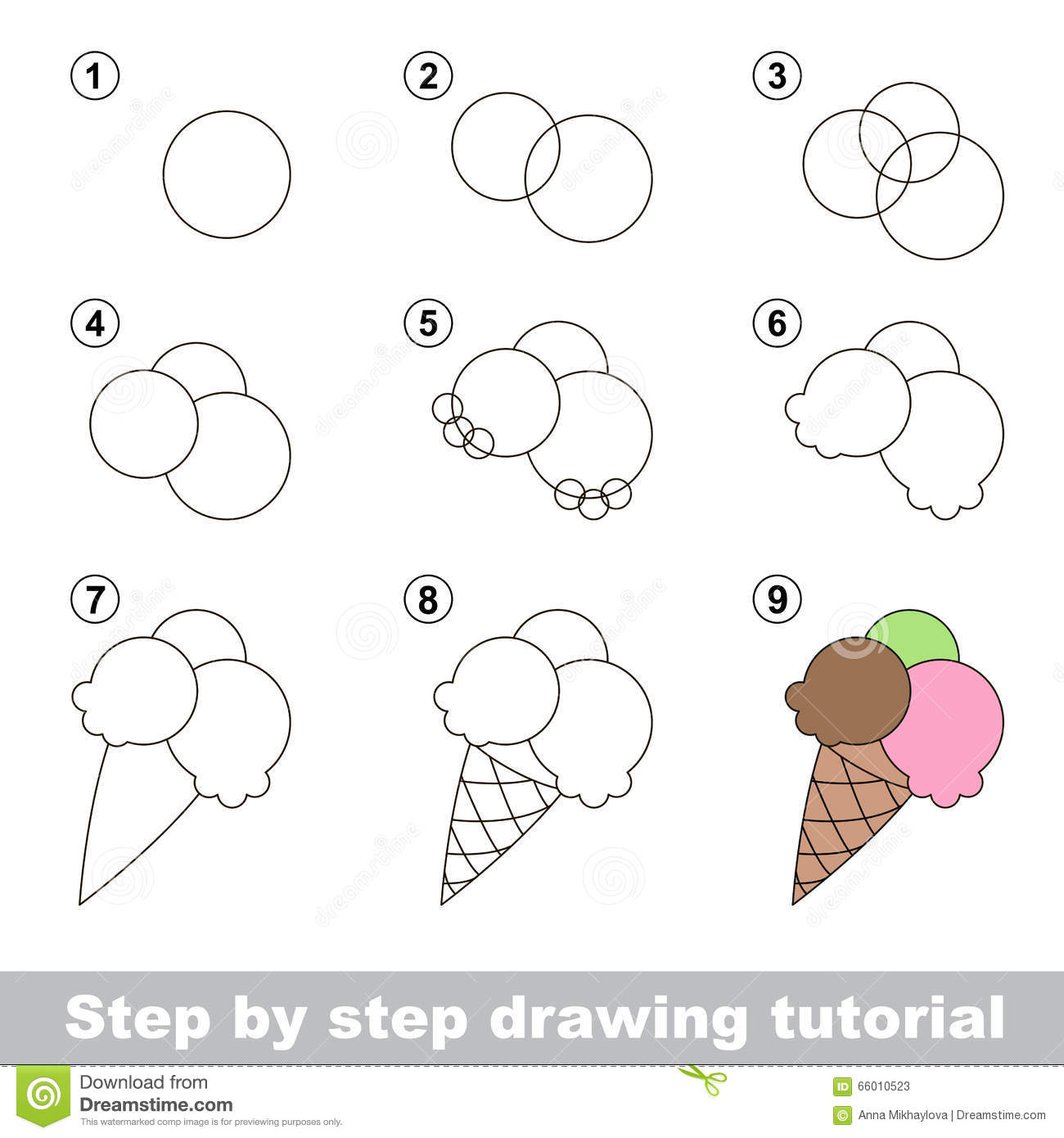 How to draw a ice cream