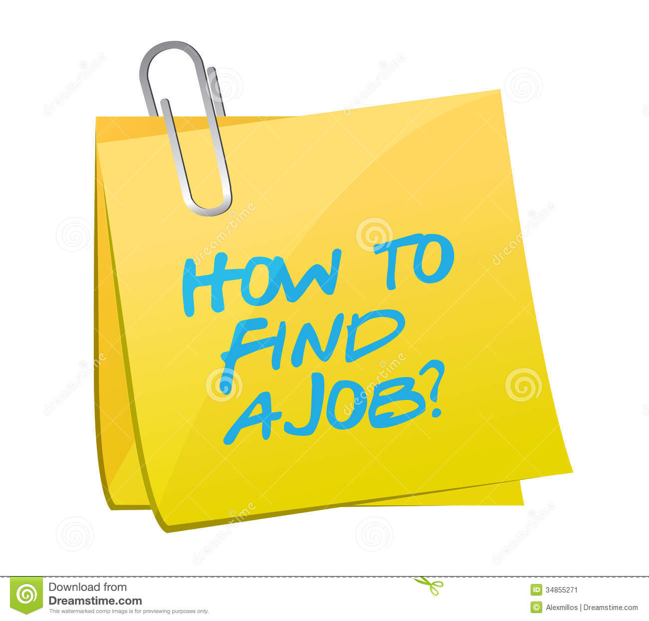 how to a job post illustration design stock image image how to a job post illustration design