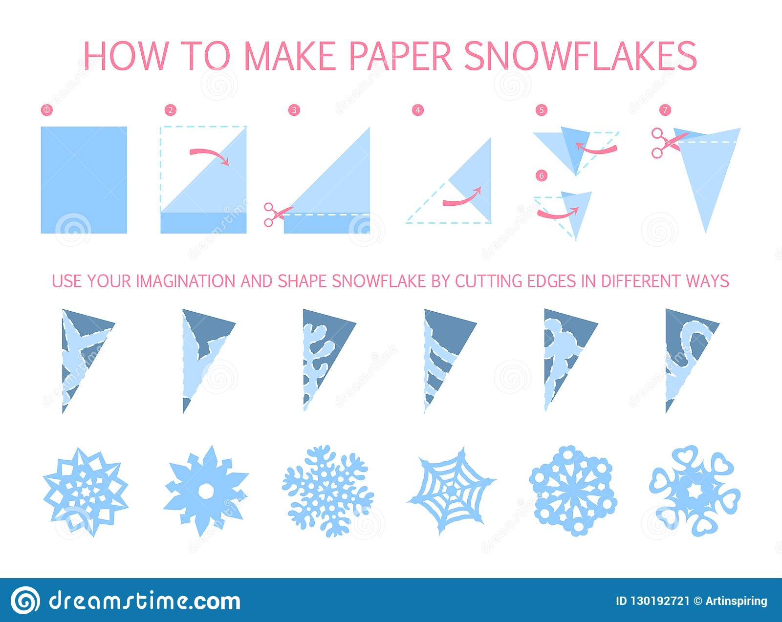 Paper Snowflake Pattern Template: How to make a paper snowflake. | 1273x1600