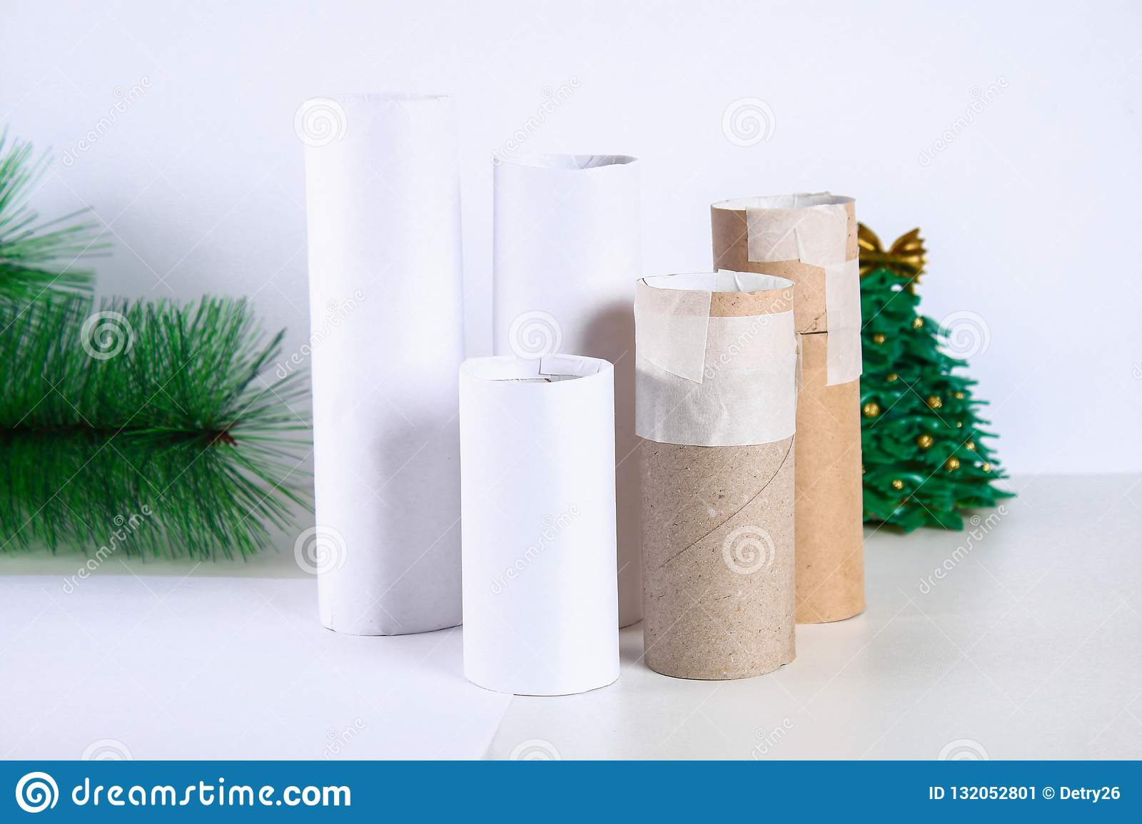 How To Make White Christmas Candles Plugs Toilet Paper Rolls