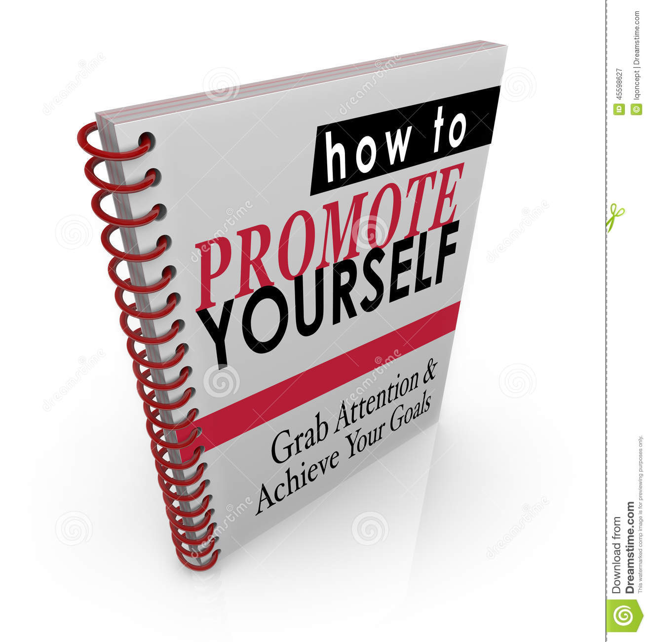 how to promote yourself book manual guide instructions stock illustration