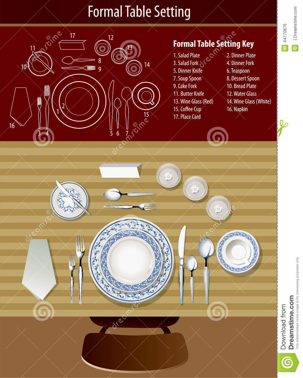 How To Set Formal Table Stock Vector. Illustration Of