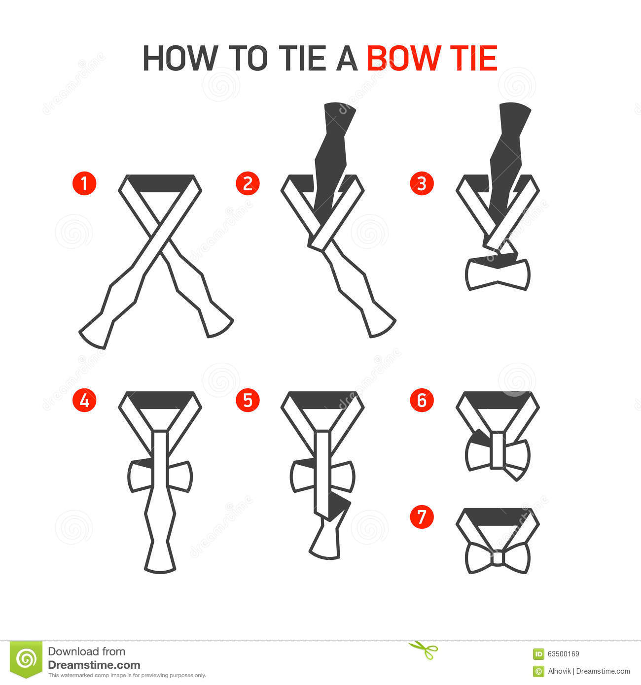 How to Tie a Bow Tie stock image. Image of collar ...