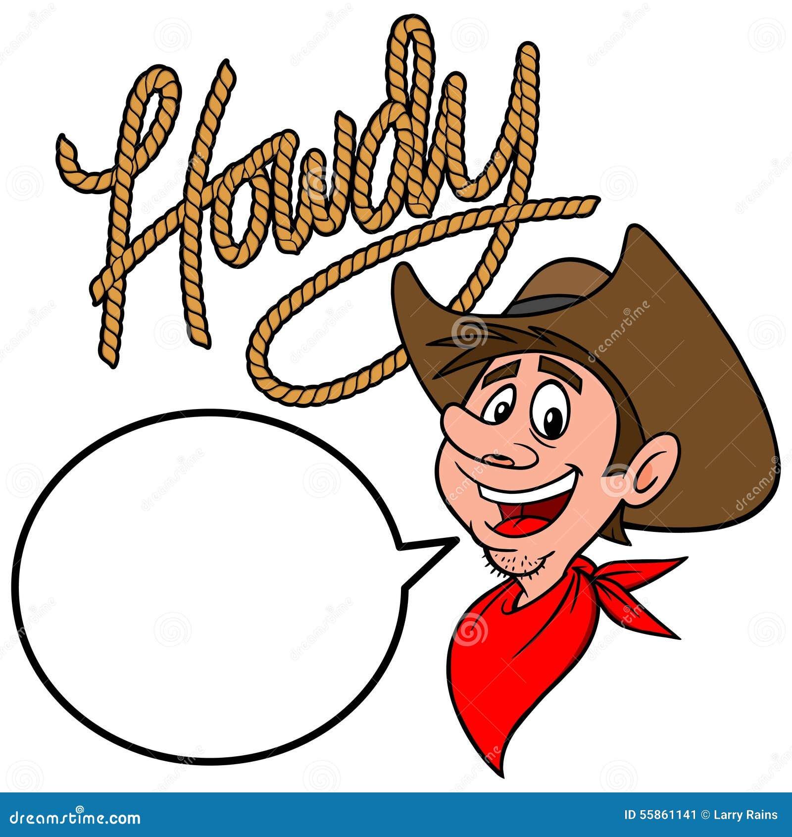 Howdy Cowboy Stock Vector - Image: 55861141