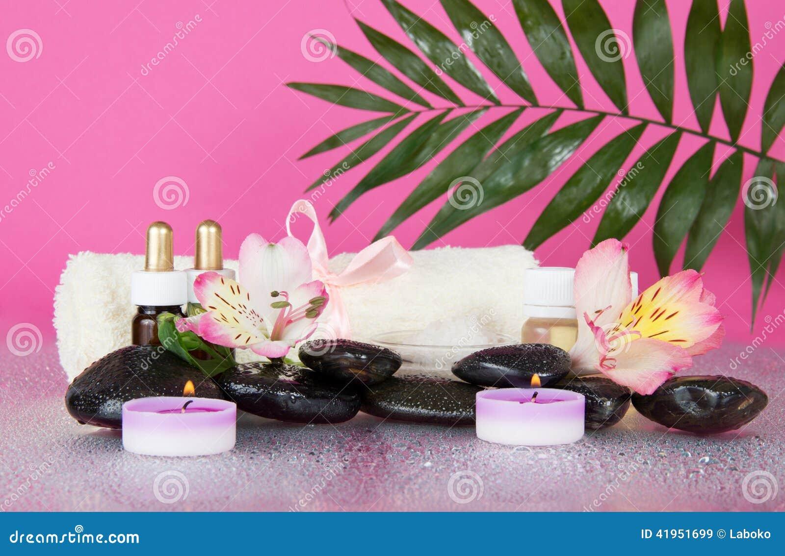 Howea liść nad setem dla aromatherapy