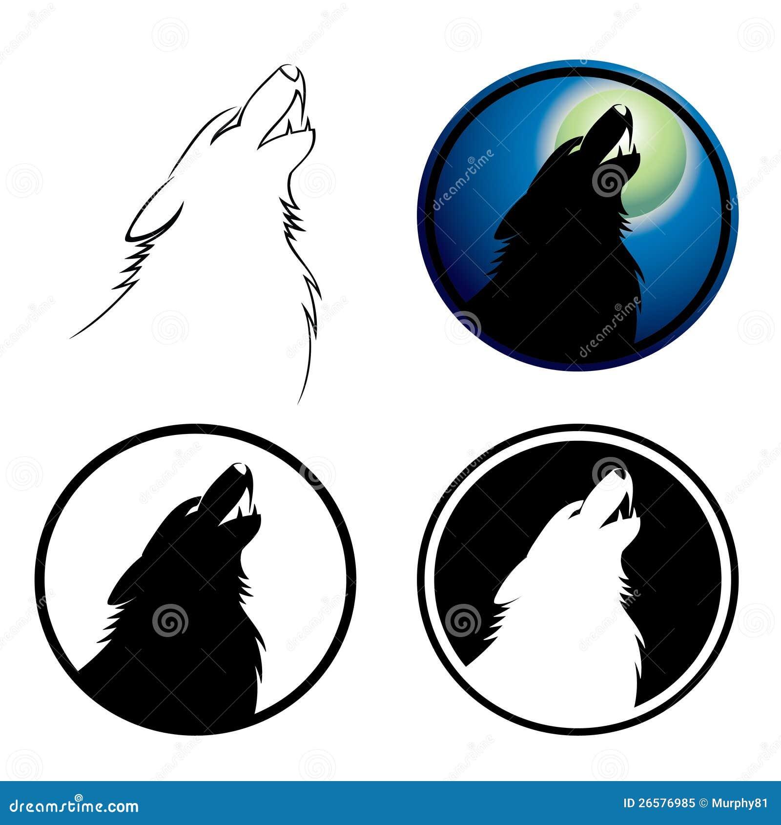 Howling Wolf Symbol Royalty Free Stock Photo - Image: 26576985