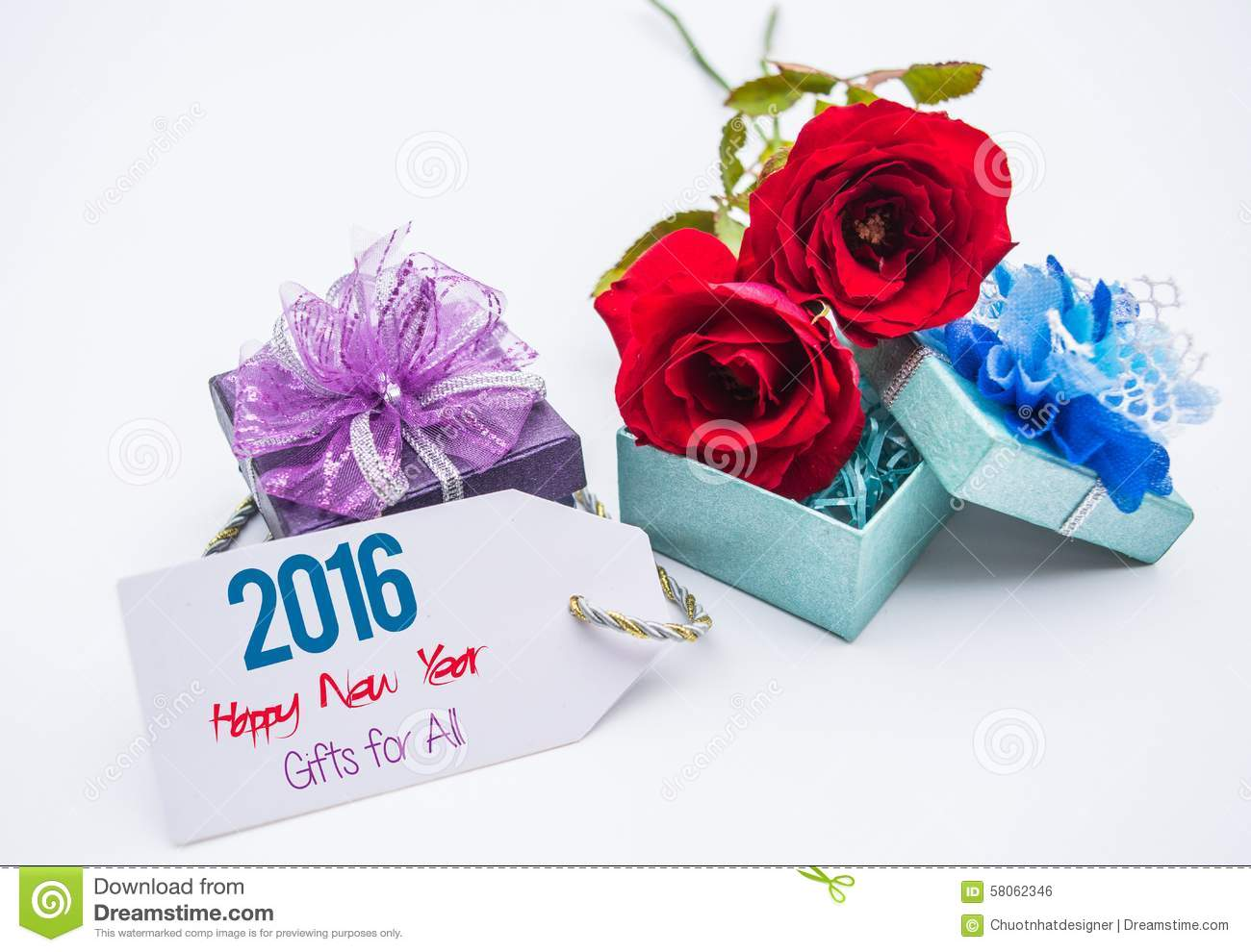 hppy new year 2016 card and roses blank space for love messages