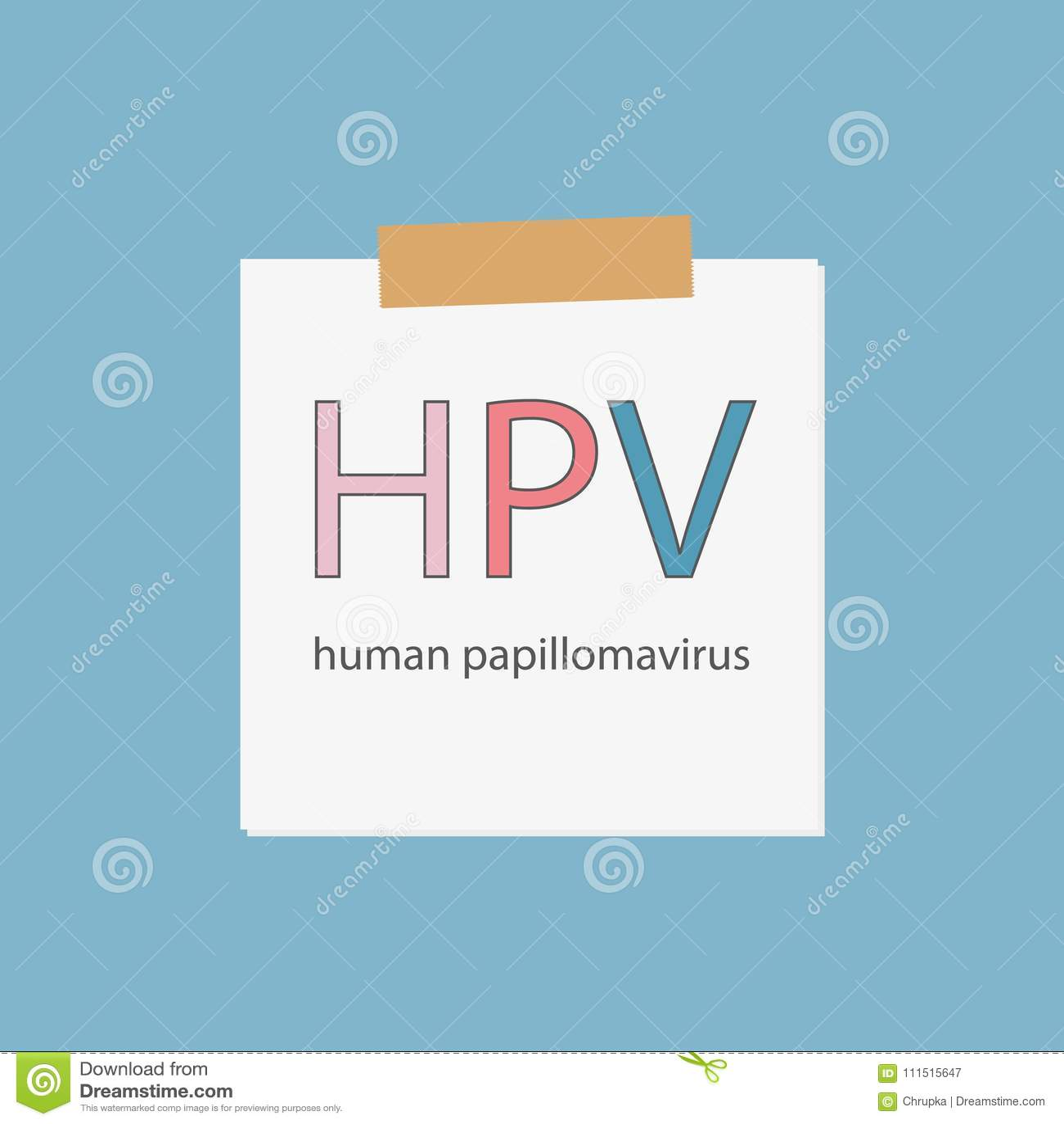 Download HPV Human Papillomavirus Written In Notebook Paper Stock Vector