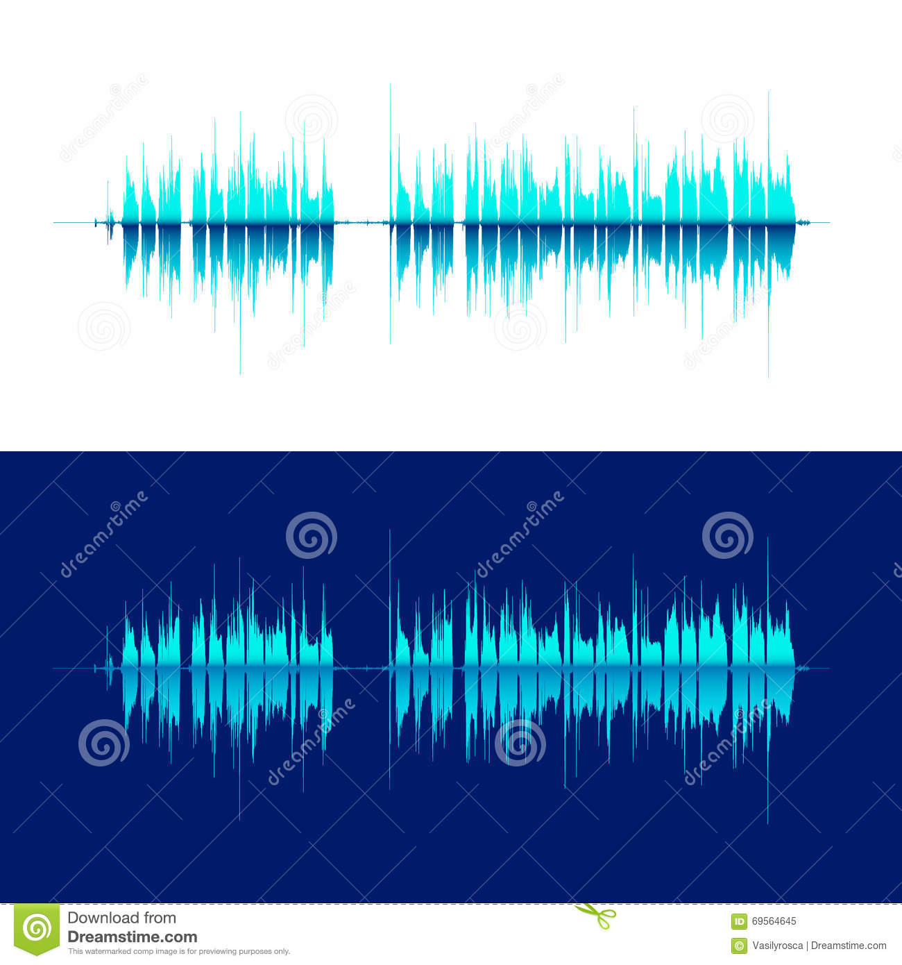 HQ Vector Sound Waves Music Waveform Background Stock Vector ...
