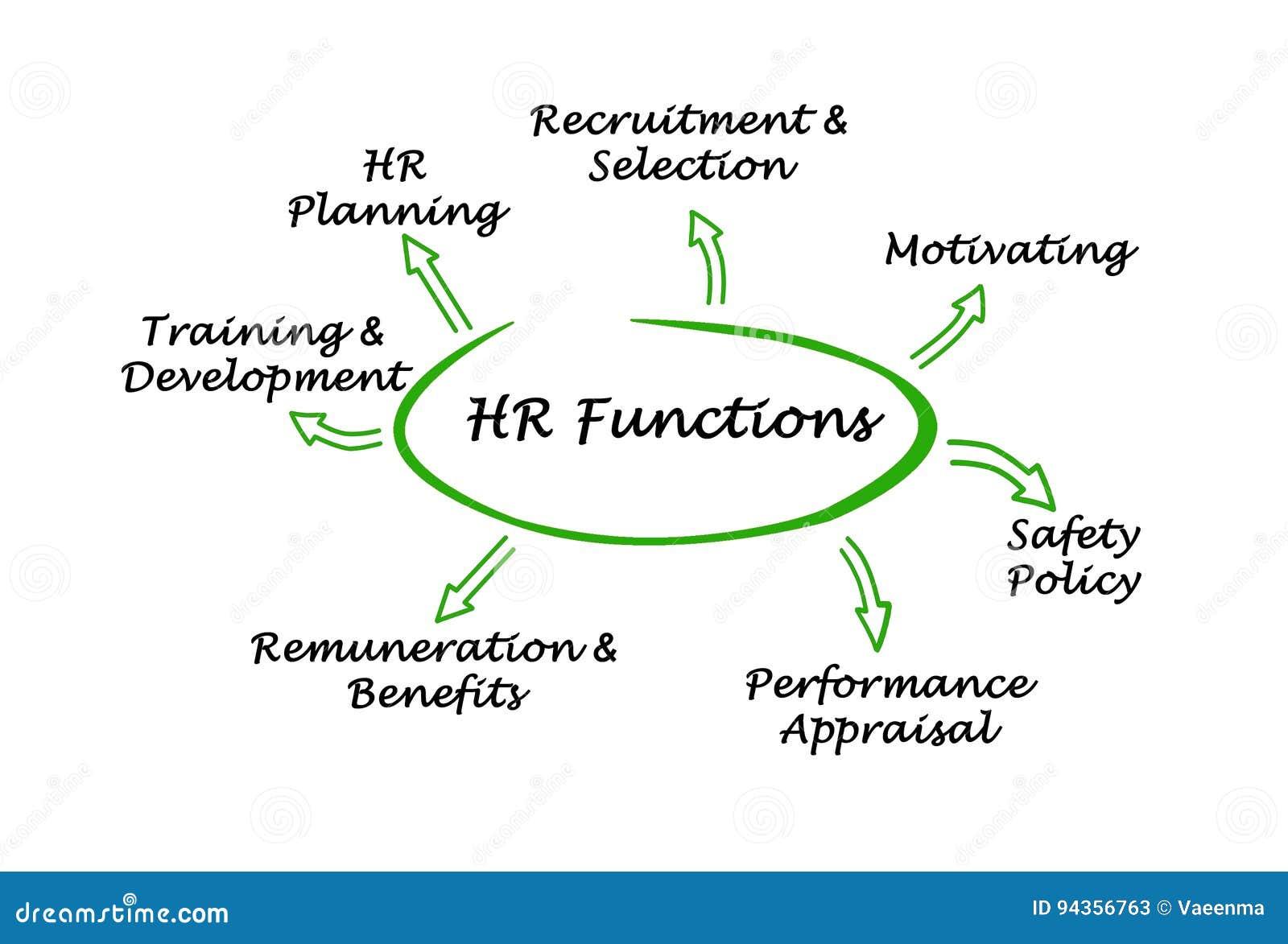 hr functions stock illustration  illustration of concept