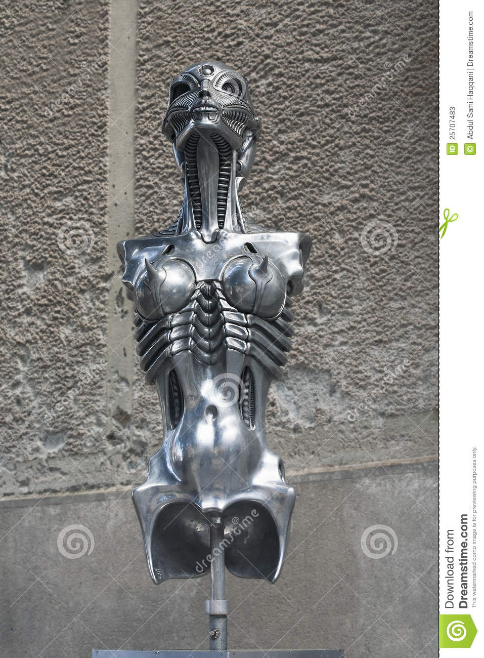 Hr Giger Sculpture Editorial Stock Photo  Image Of Gruyere