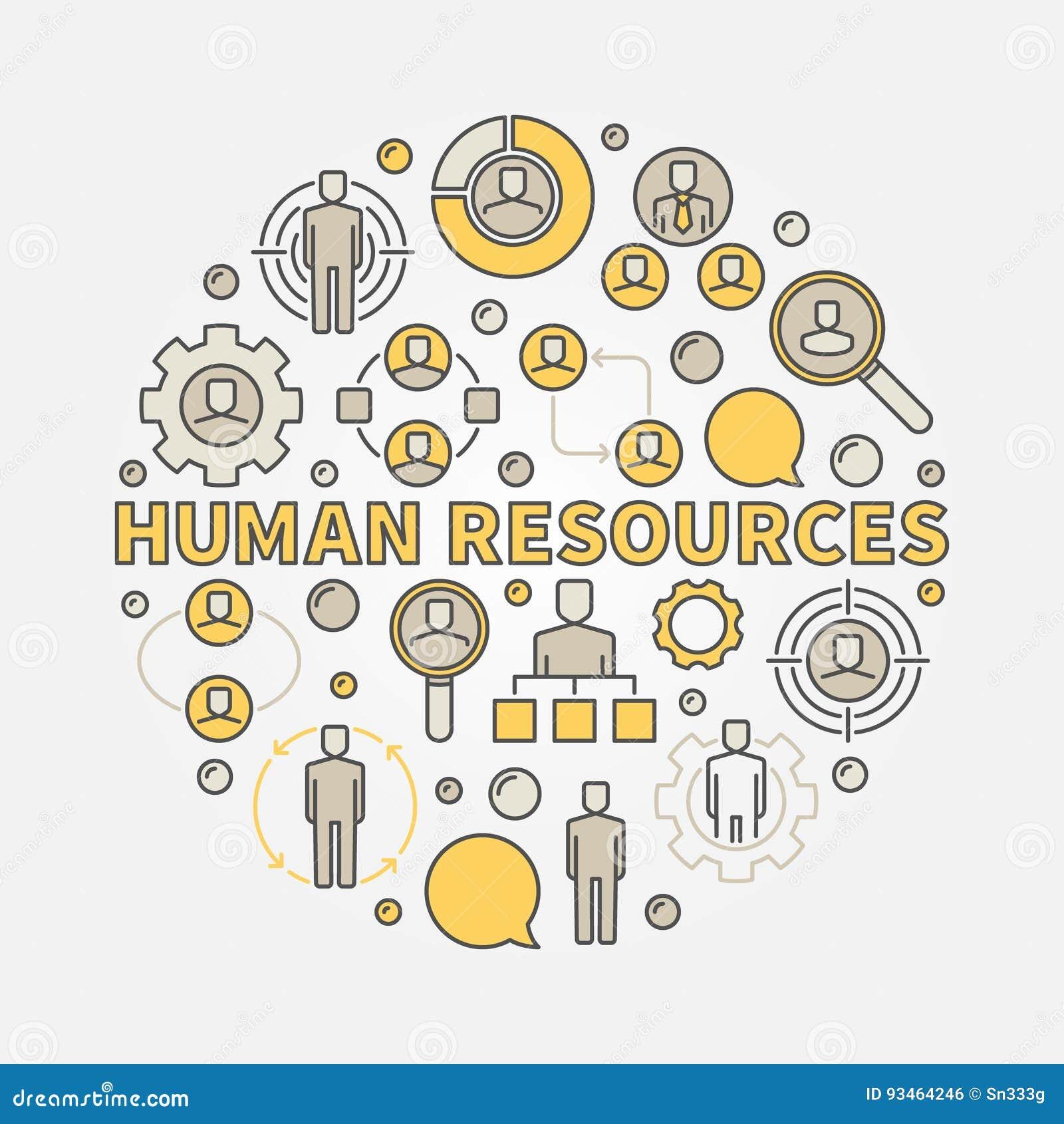 HR kolorowa ilustracja