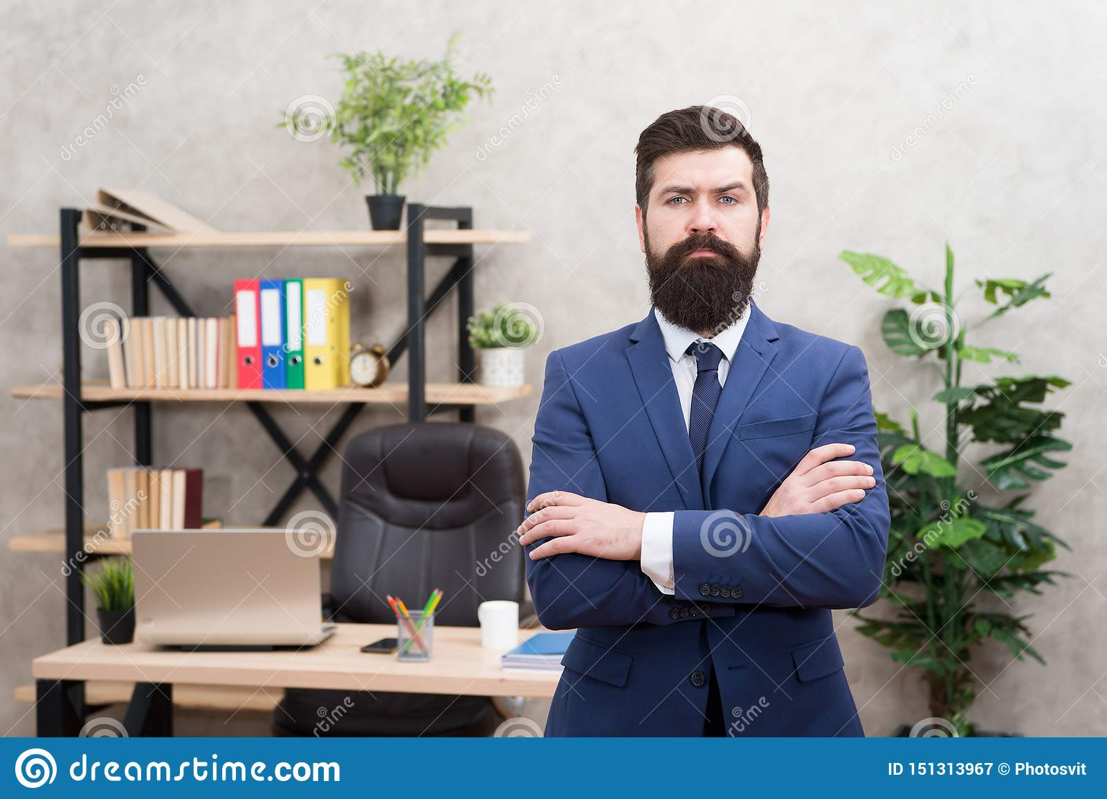 HR manager. Man bearded manager recruiter in office. Recruiter career. Human resources. Hiring concept. Recruitment