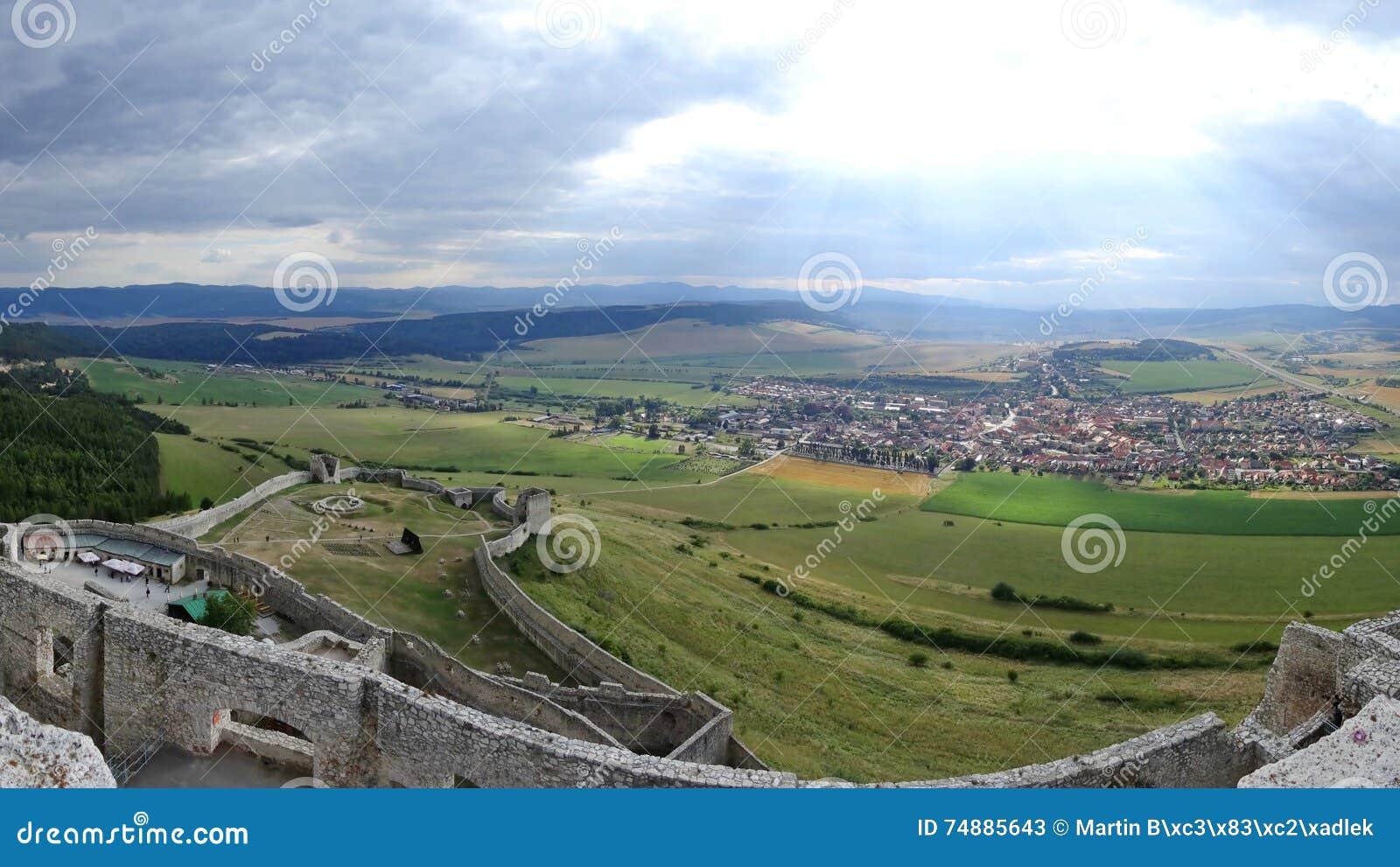 Hrad do castelo/Spissky de Spis, Eslováquia