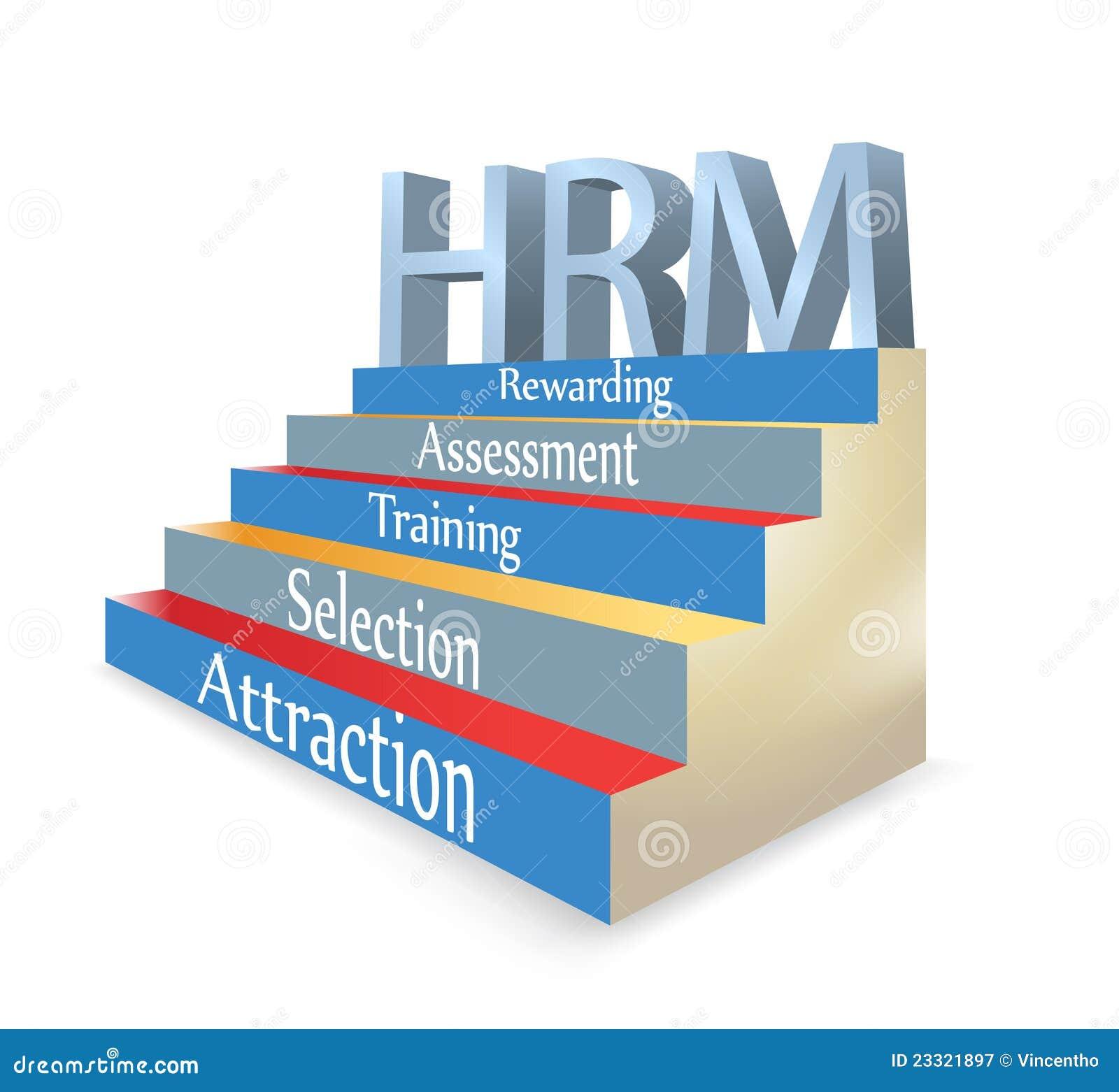 Hrm Human Resource Management Illustration Stock Vector