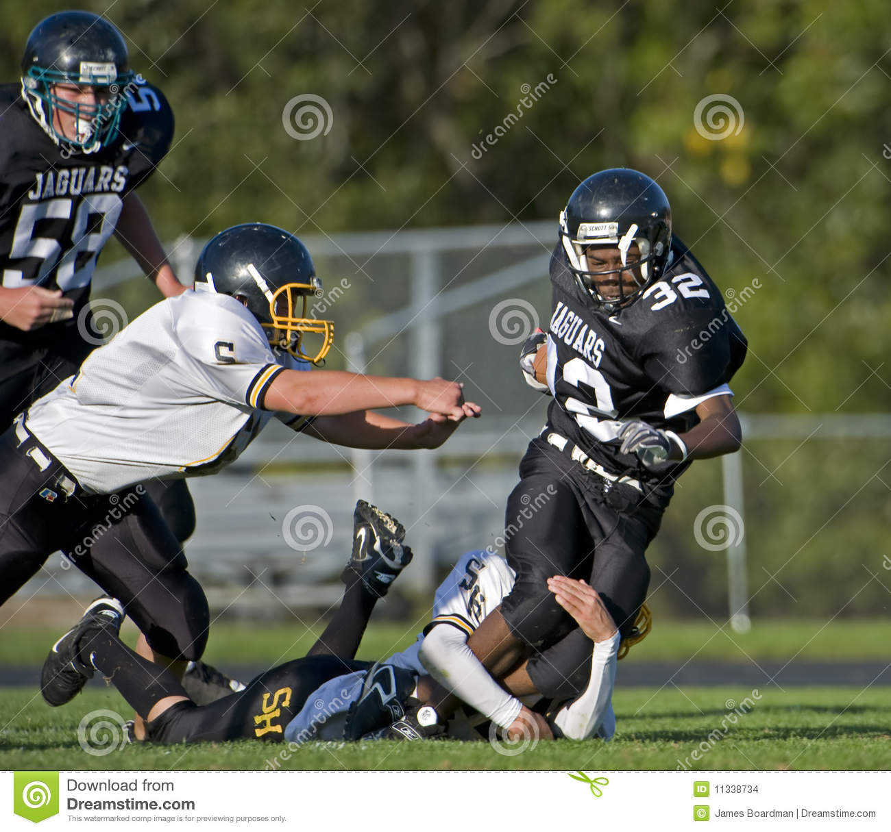 HS American Football tackle