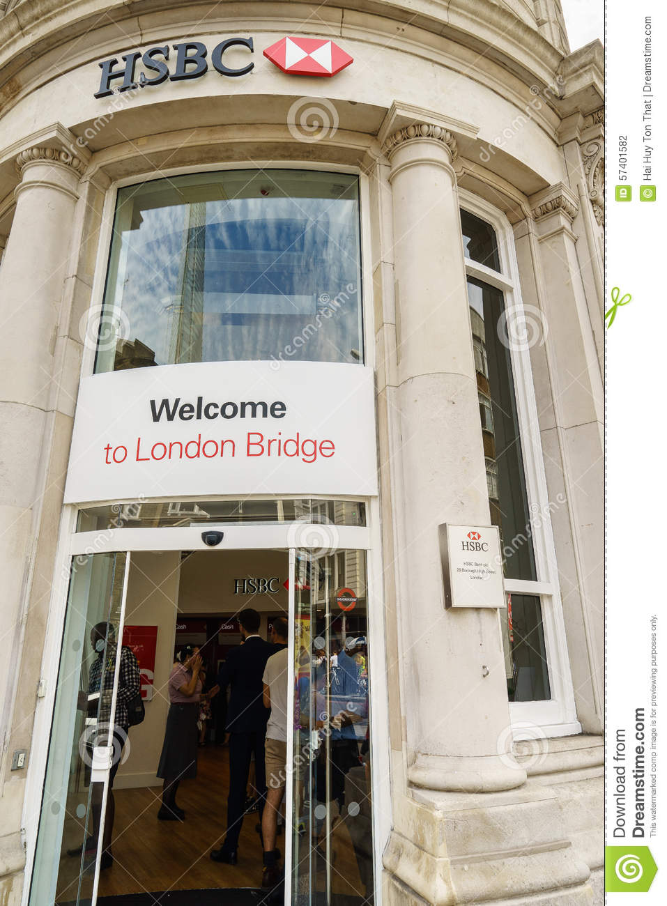 HSBC Bank branch in London editorial photography  Image of european