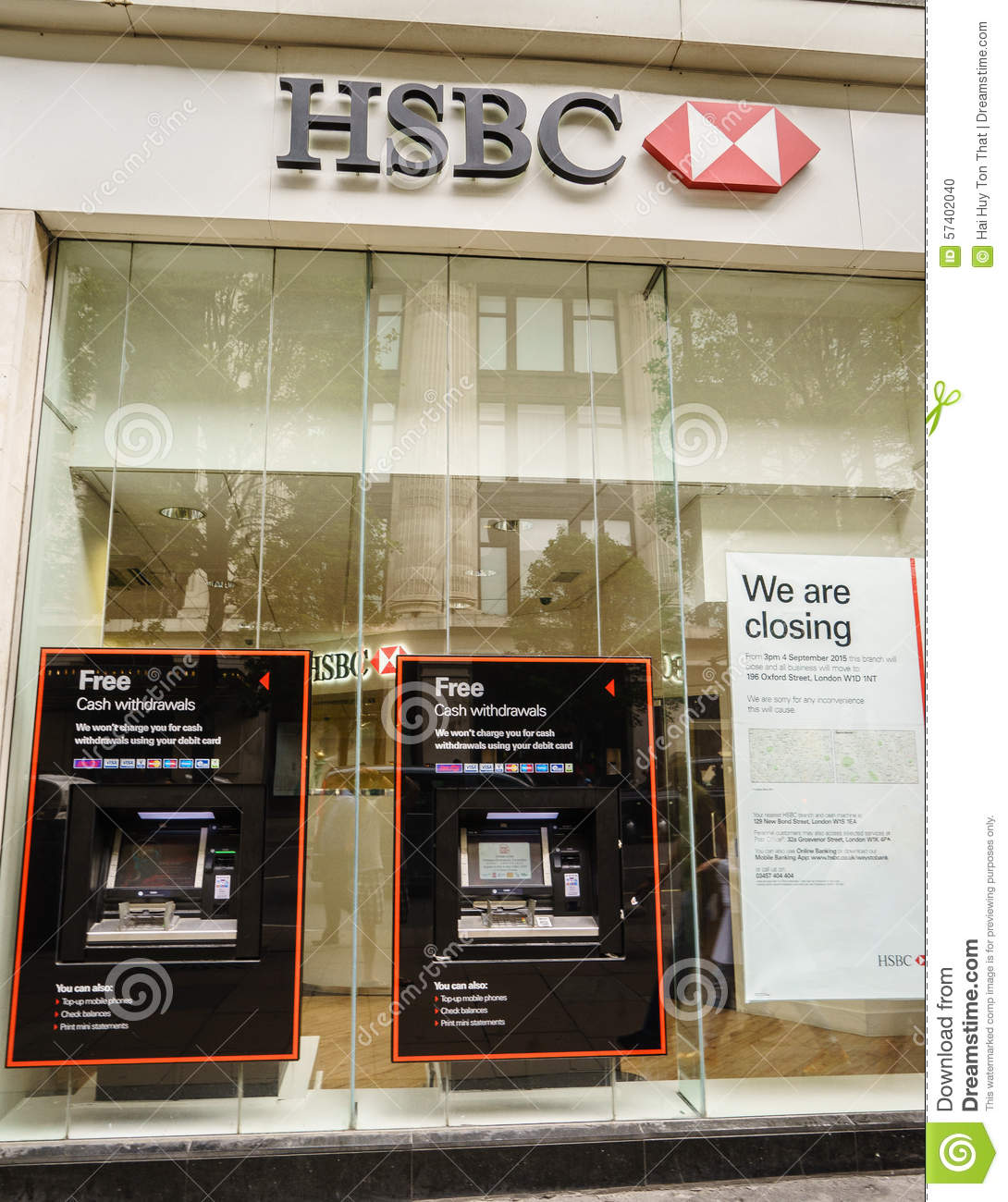 HSBC Bank branch in London editorial image  Image of