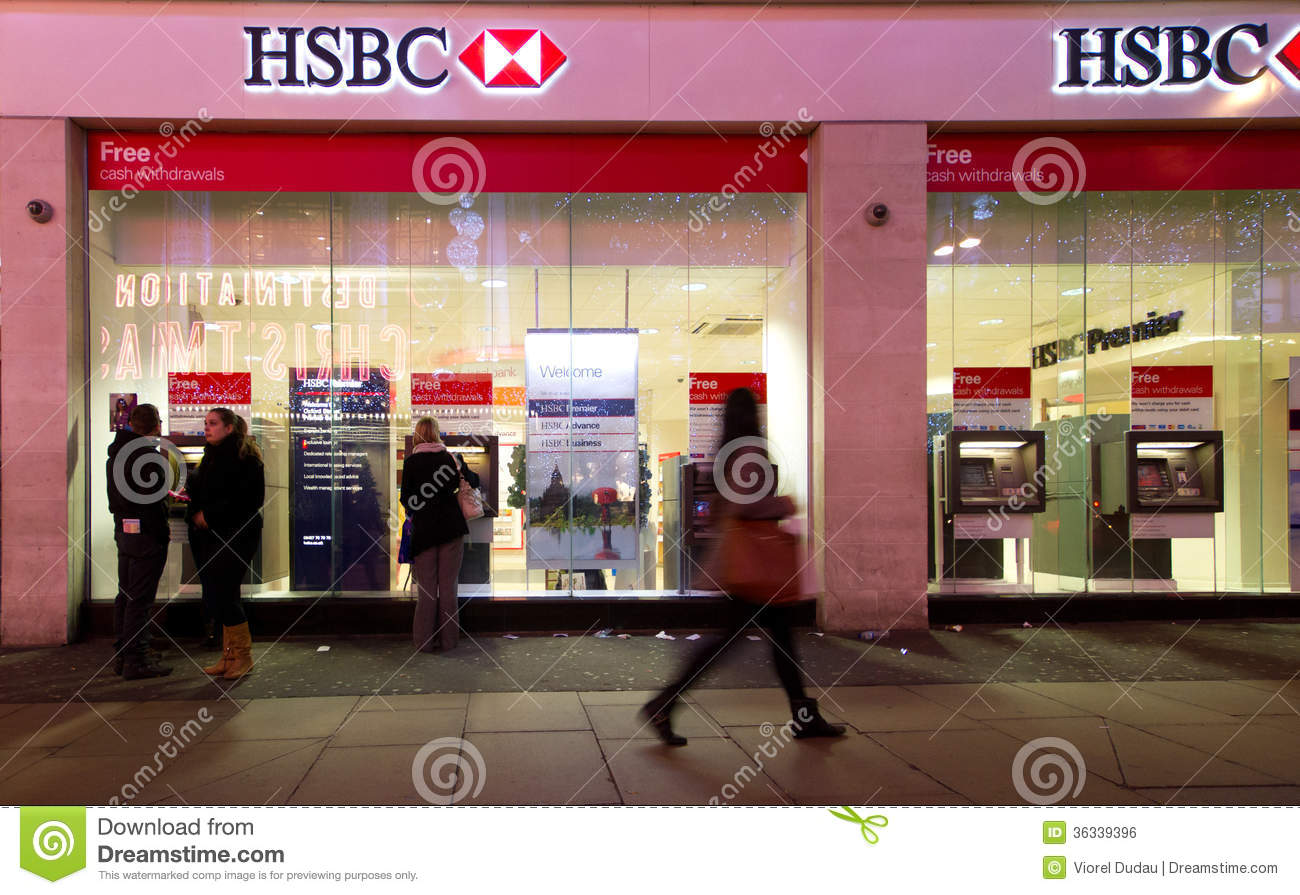 HSBC Bank editorial photo. Image of financial, london ...