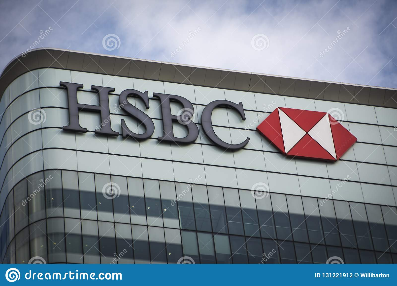 HSBC Building, Canary Wharf Editorial Photography - Image of