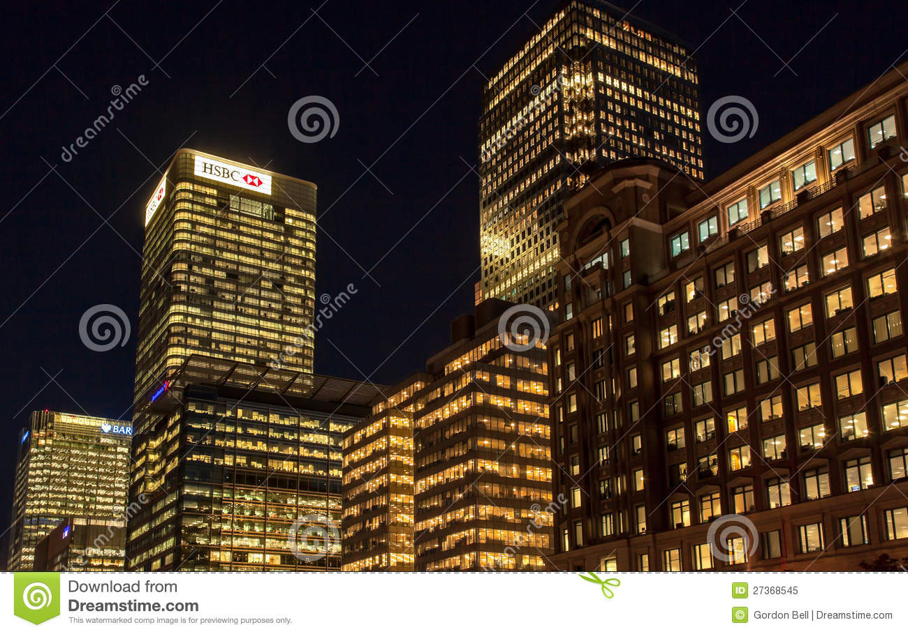 HSBC Head Offcie In Canary Wharf Editorial Image - Image of building