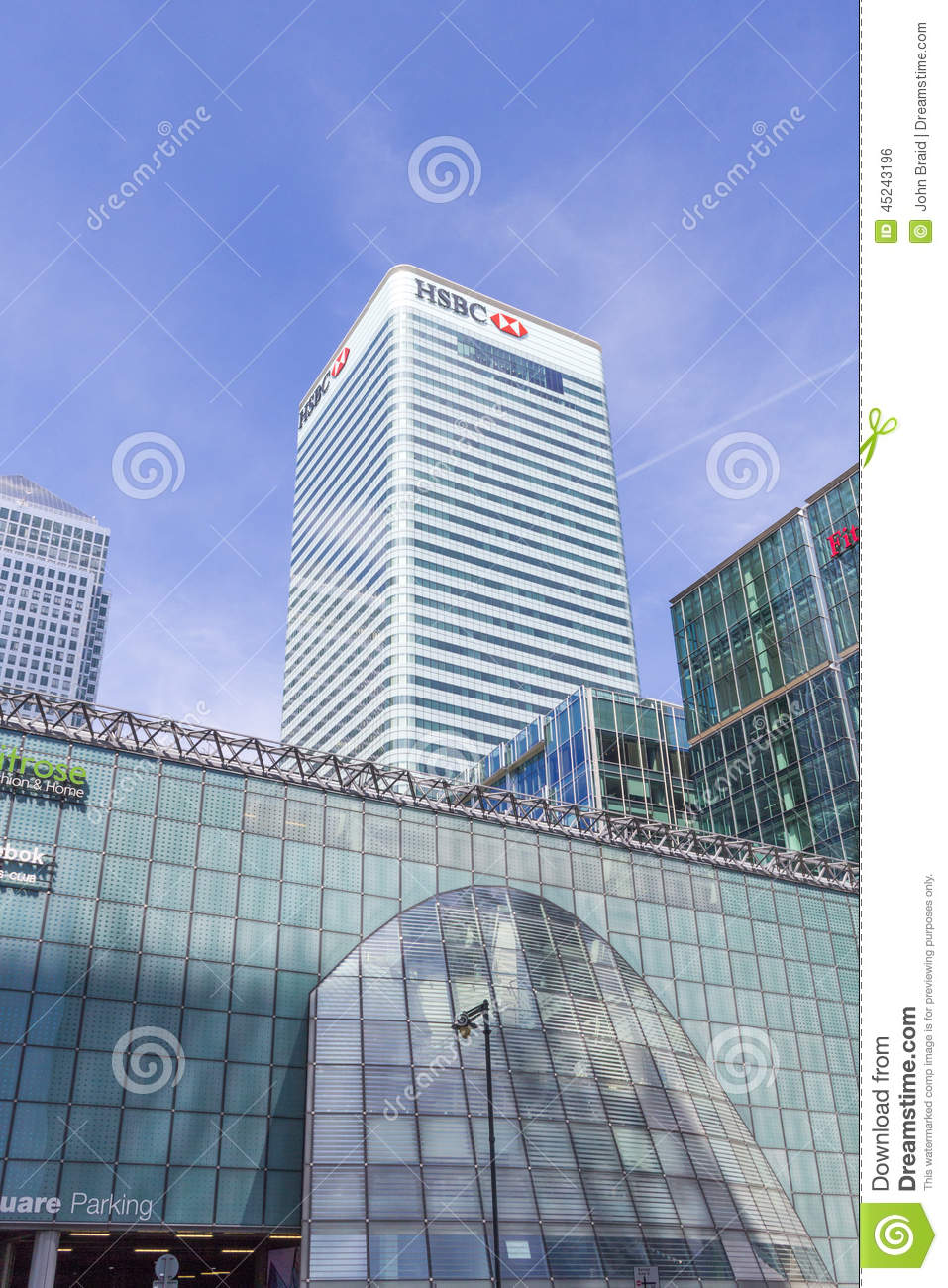 HSBC headquarters, London editorial photo  Image of sector - 45243196