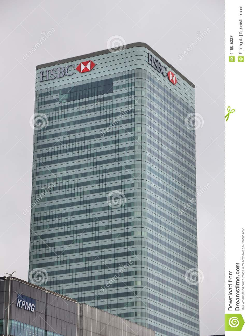 HSBC office building editorial stock photo  Image of tall