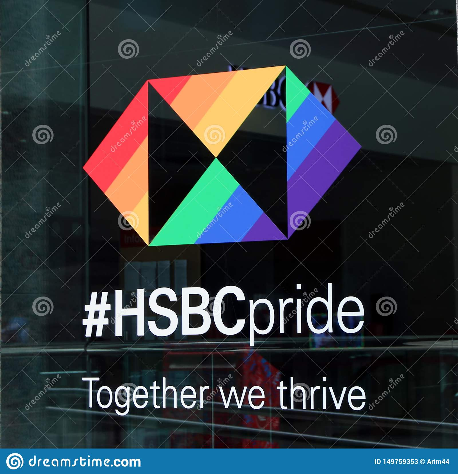 HSBC Pride, Toronto editorial stock photo. Image of sponsor ...