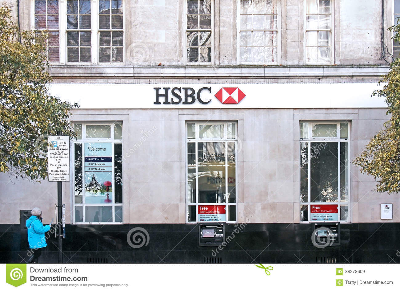 HSBC Queensway branch editorial stock image  Image of branch