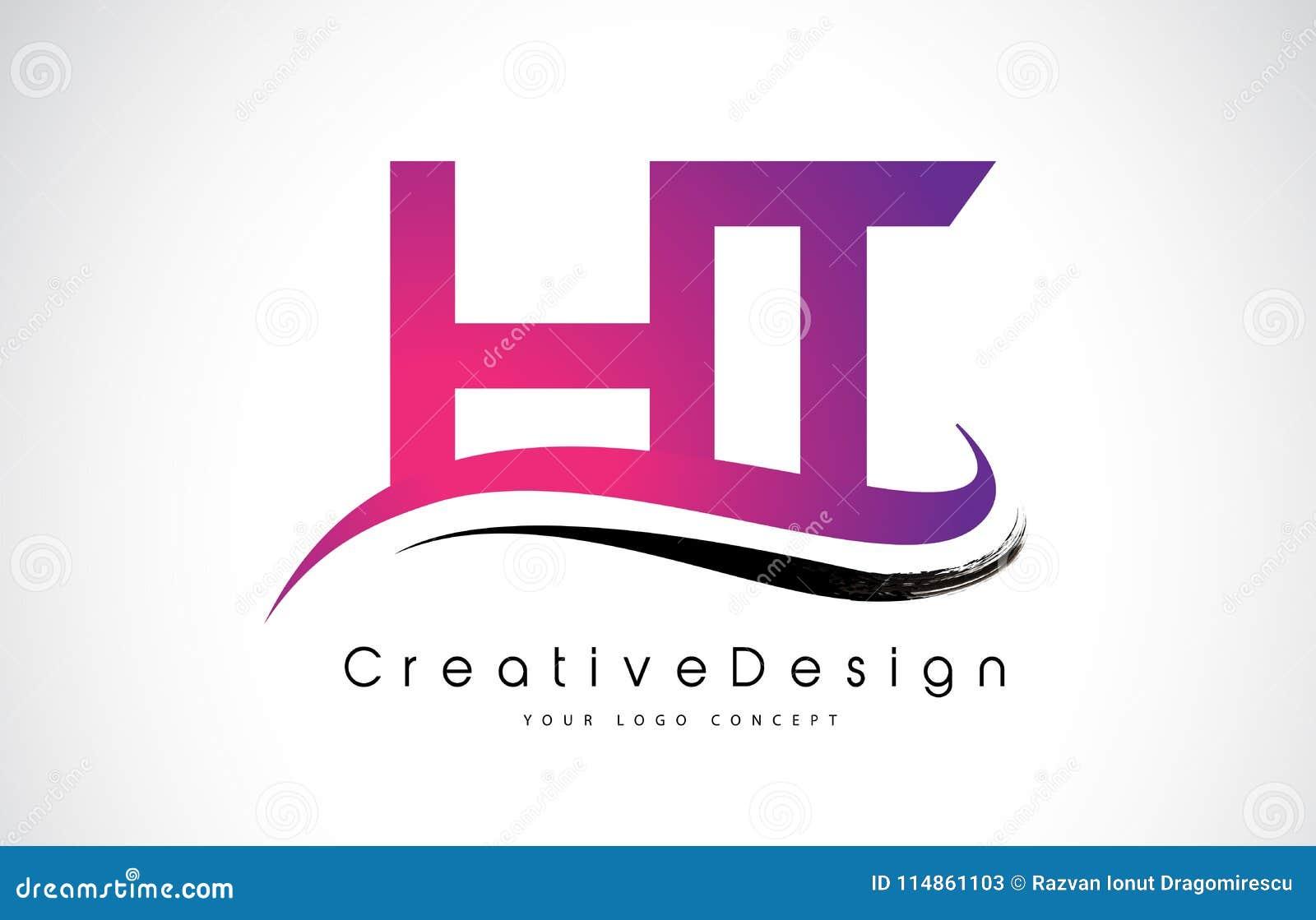 HT H T Letter Logo Design. Creative Icon Modern Letters Vector L ...