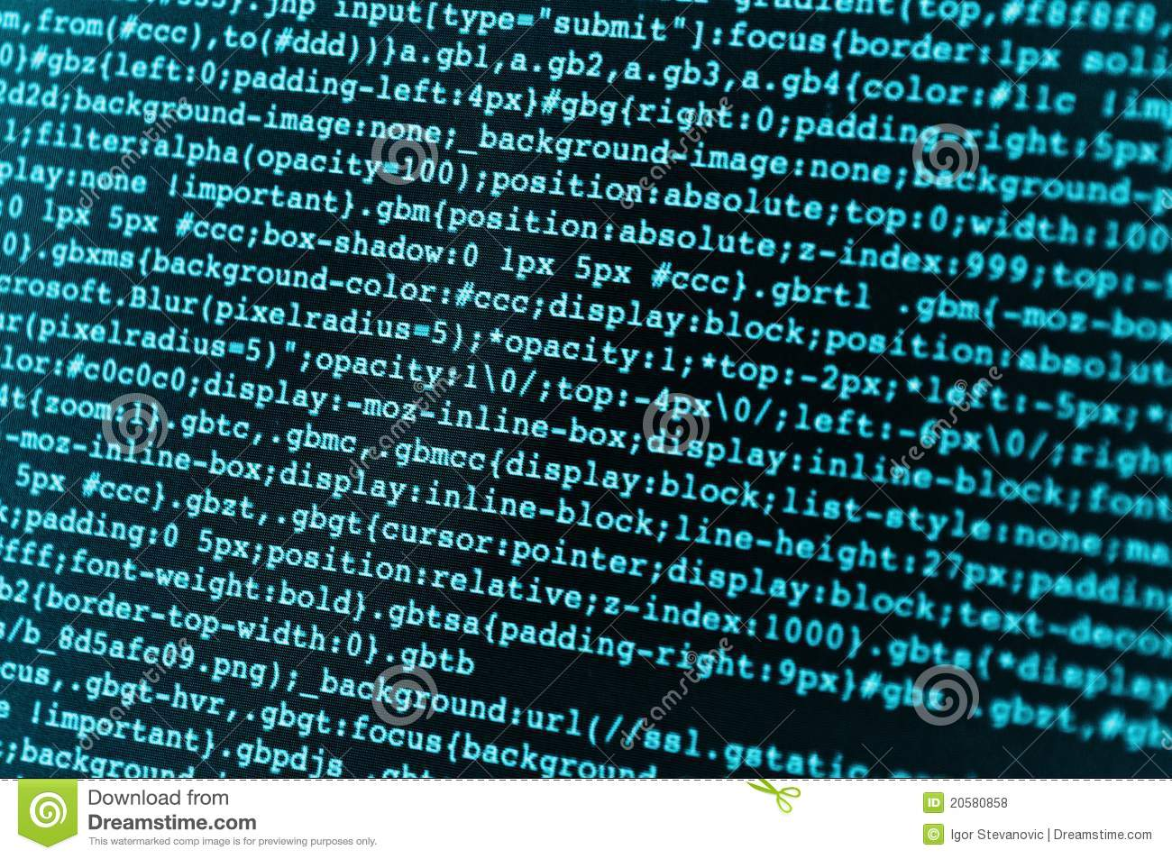 HTML Code Royalty Free Stock Photos - Image: 20580858