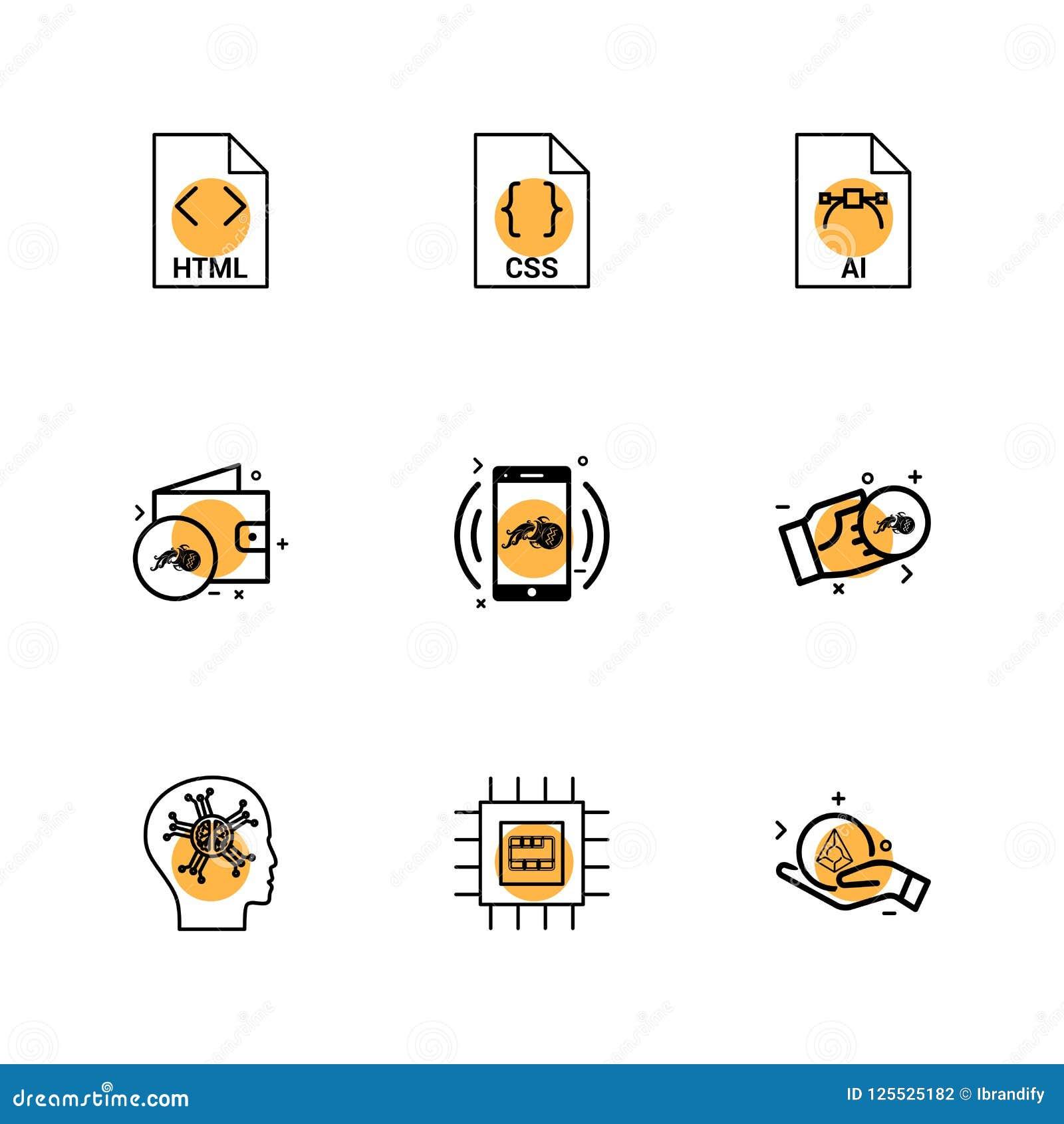HTML, css, AI, πορτοφόλι, κινητός, crypto νόμισμα, χρήματα, ολοκληρωμένο κύκλωμα,