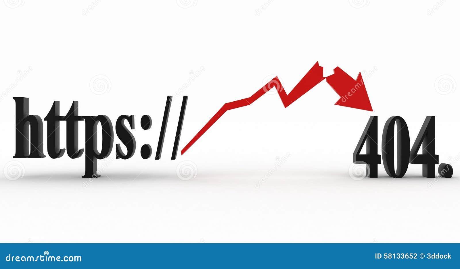 HTTP Not Found Error Code 404 Stock Illustration
