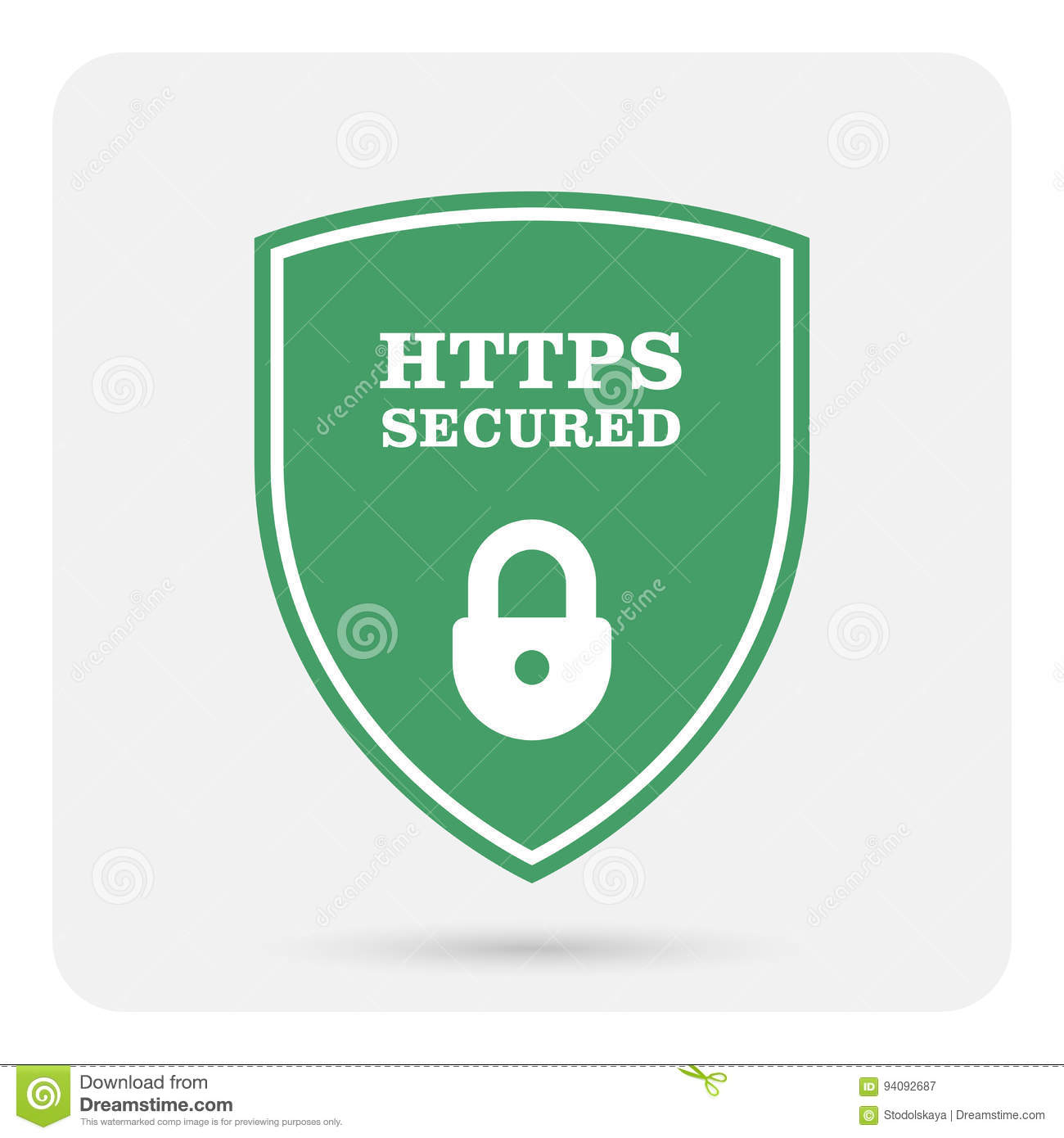 Https Secure Website Ssl Certificate Shield With Padlock Stock