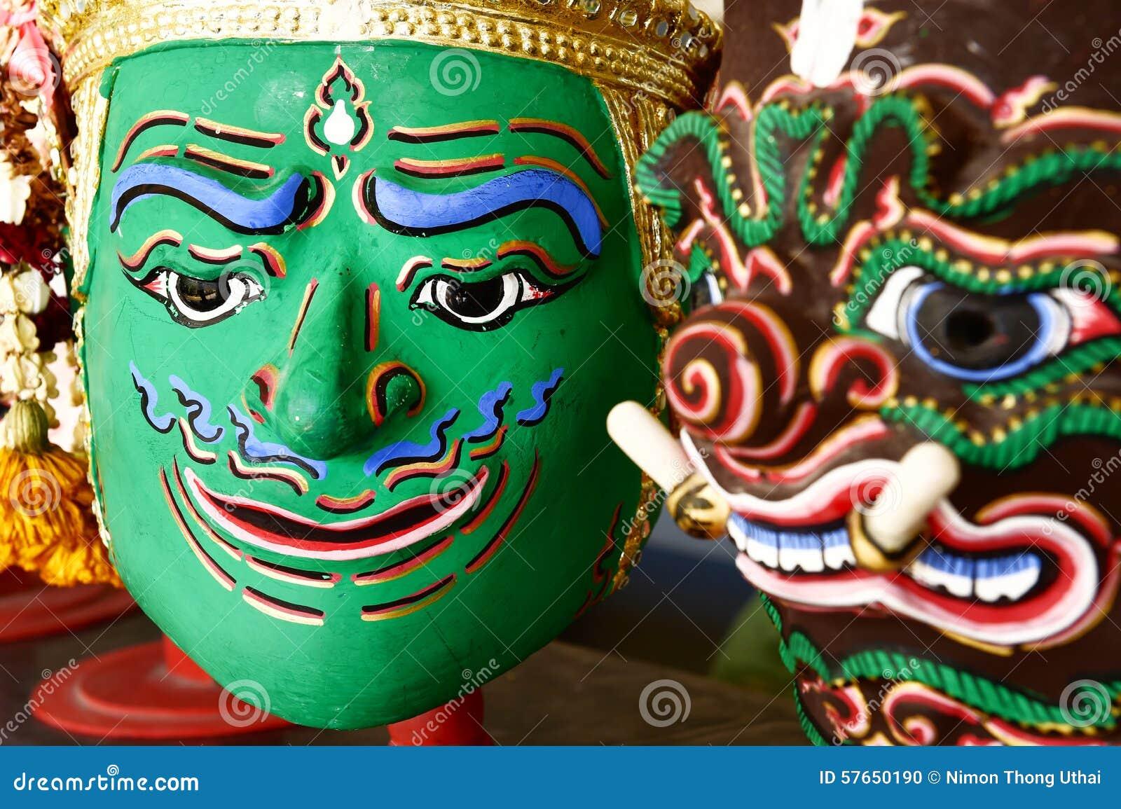 Hua Khon Używać w Khon (Tajlandzka Tradycyjna maska)